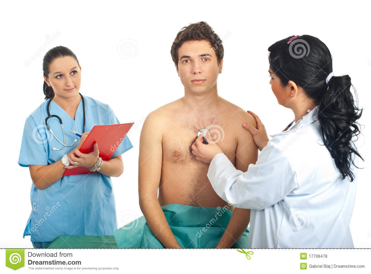 Doctor Woman Examine Patient Stock Photo - Image Of Adults -5198