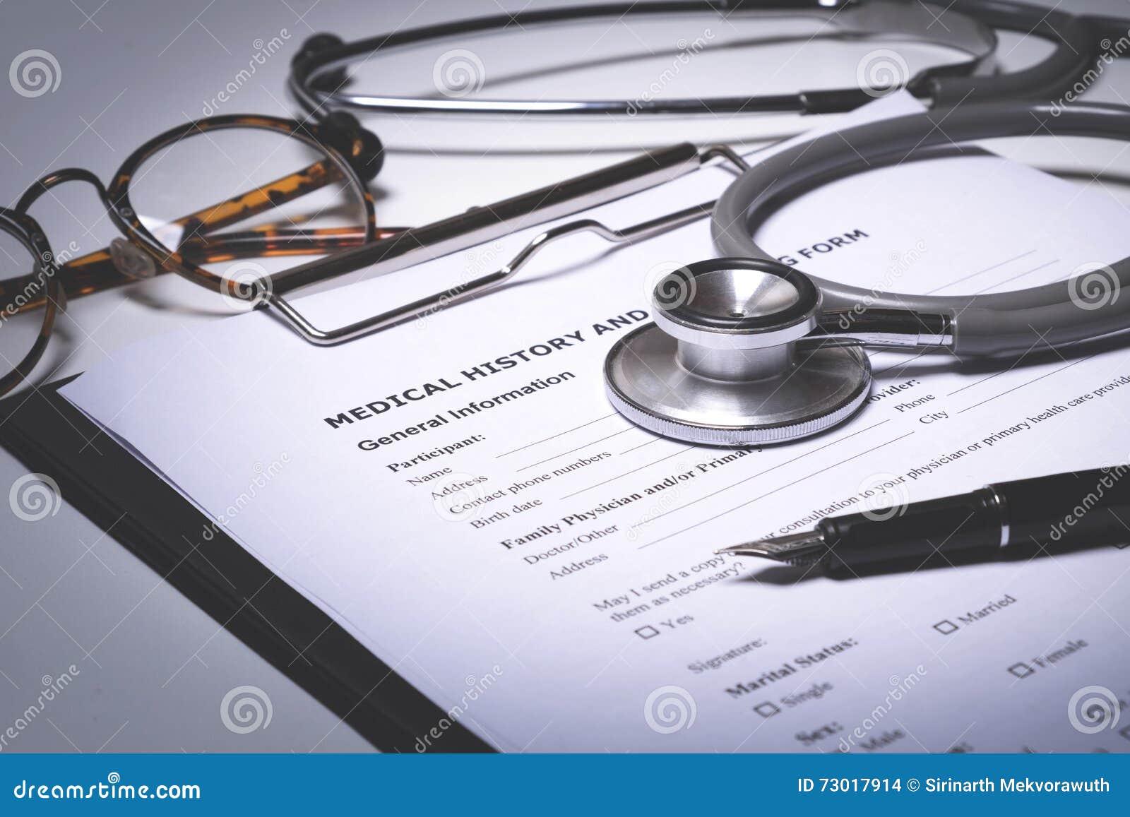 Doctor working desktop  stock photo  Image of illness - 73017914