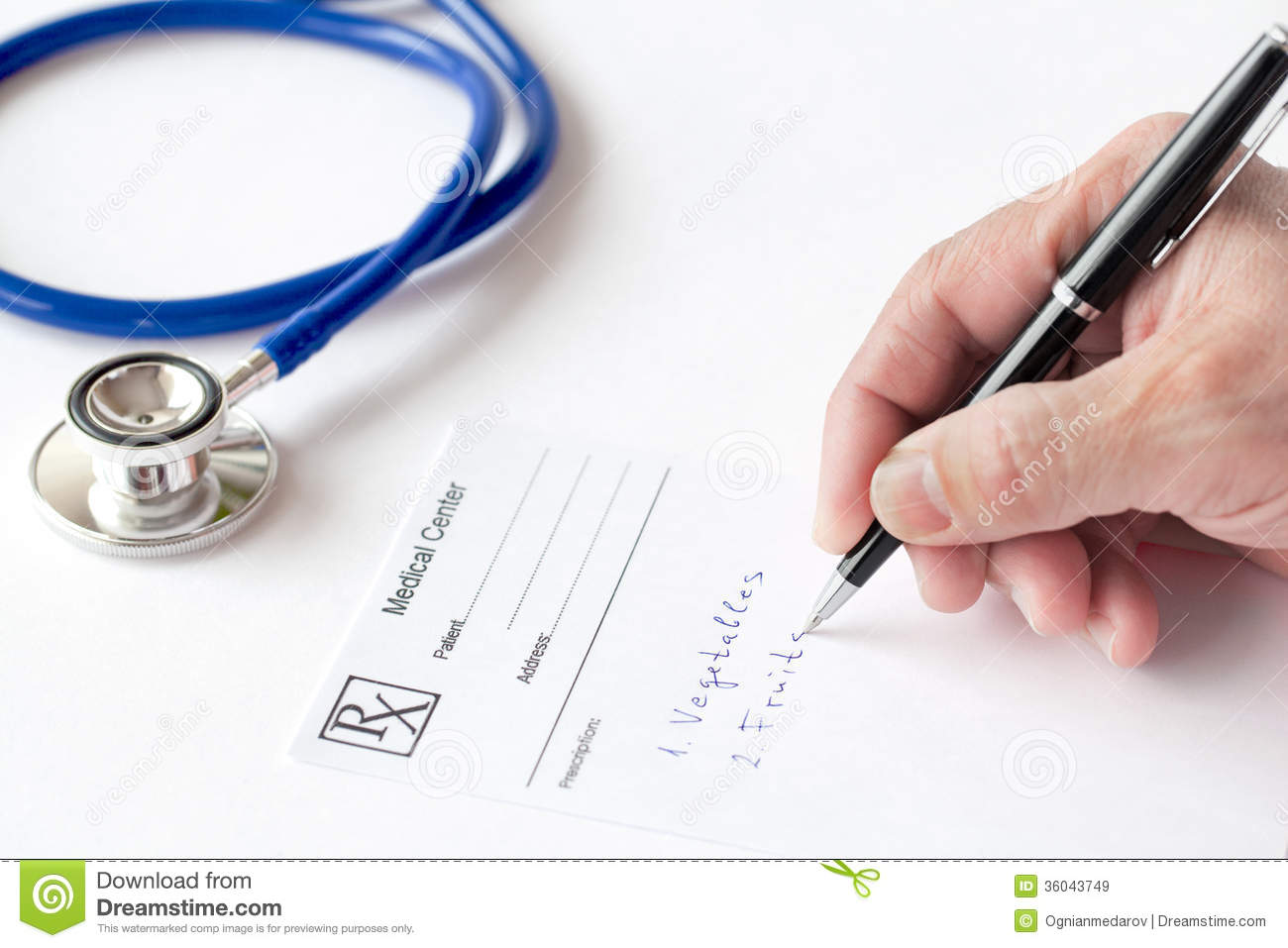 Doctor Is Writing A Prescription Royalty Free Stock Images ...
