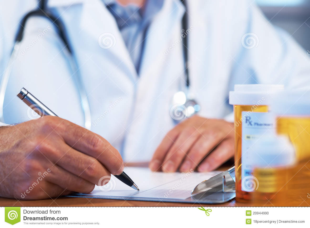 Doctor Writing RX Prescription Stock Photo - Image: 20944990