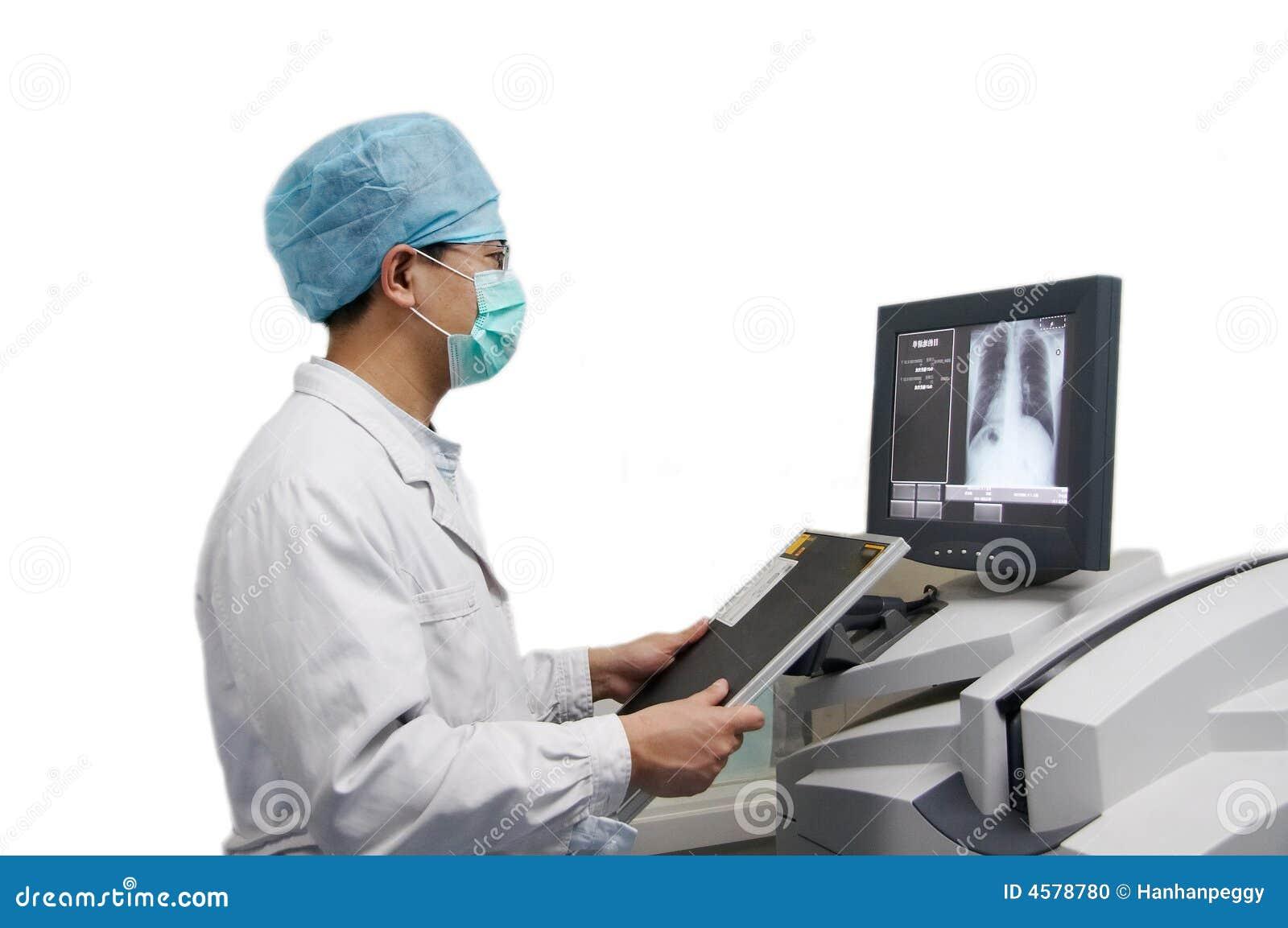 Ray Machine Clipart Doctor and x-ray computerXray Machine Clipart