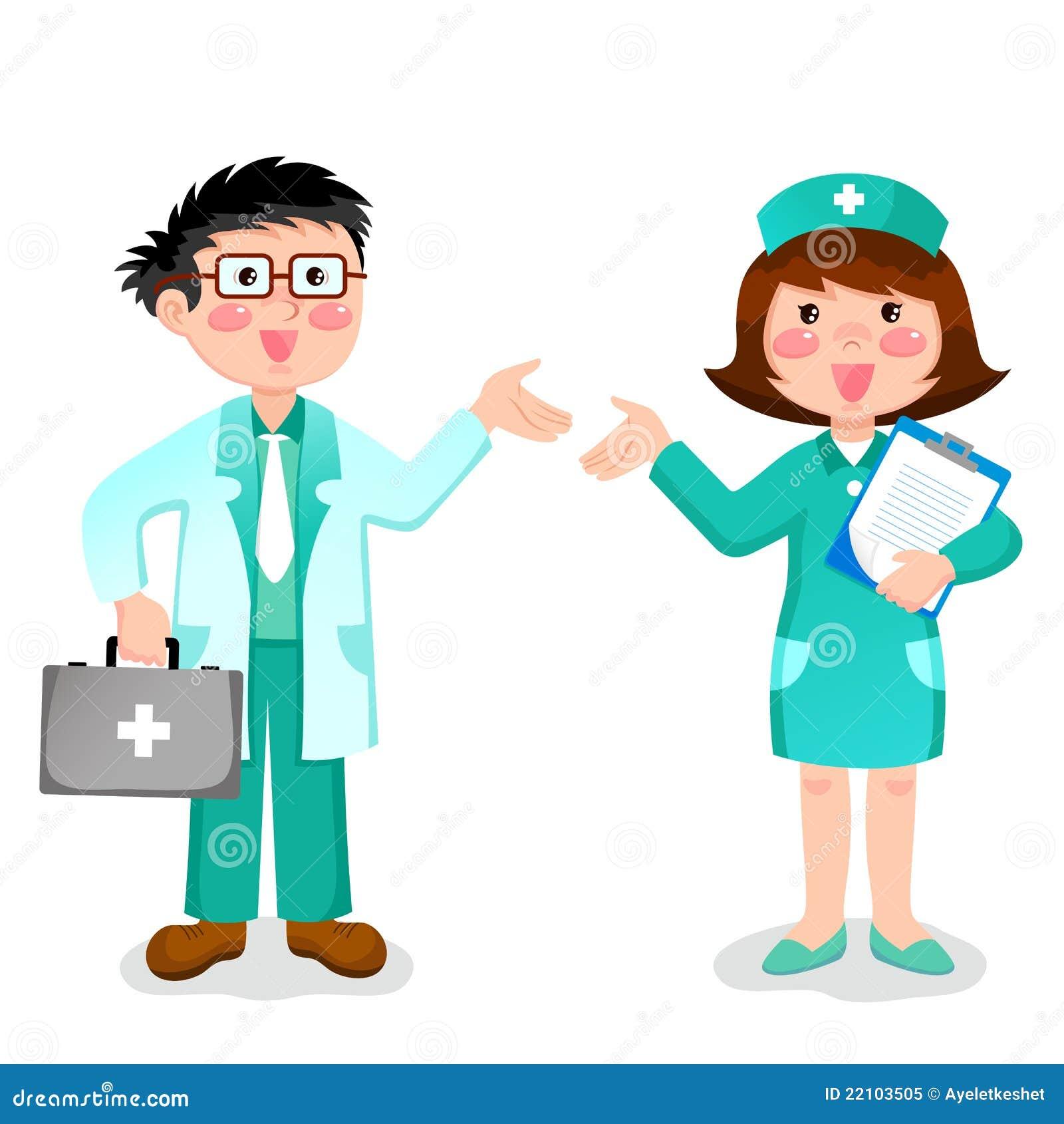 Enfermera caliente y doctor