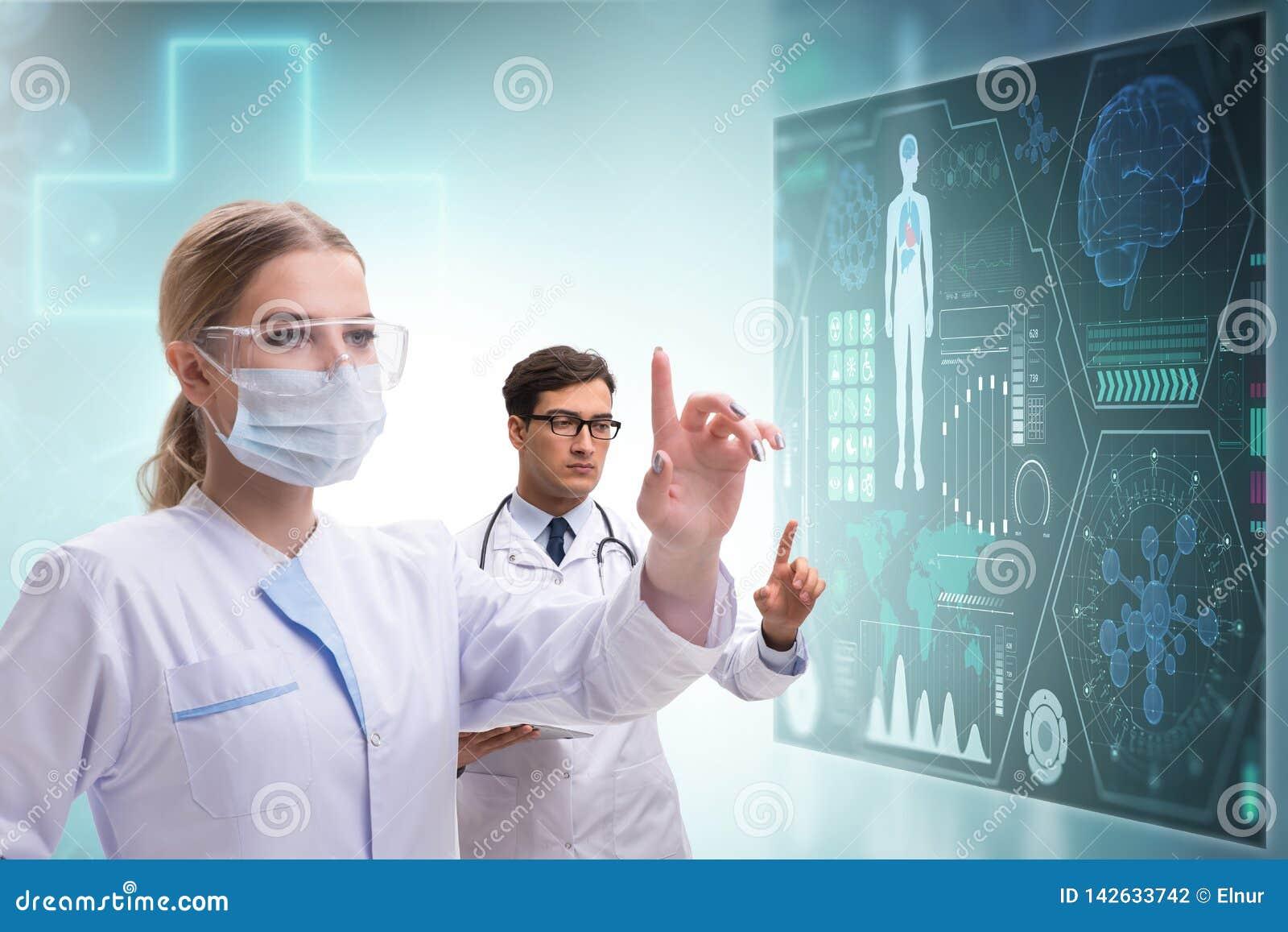The Doctors In Future Telemedicine Concept Stock