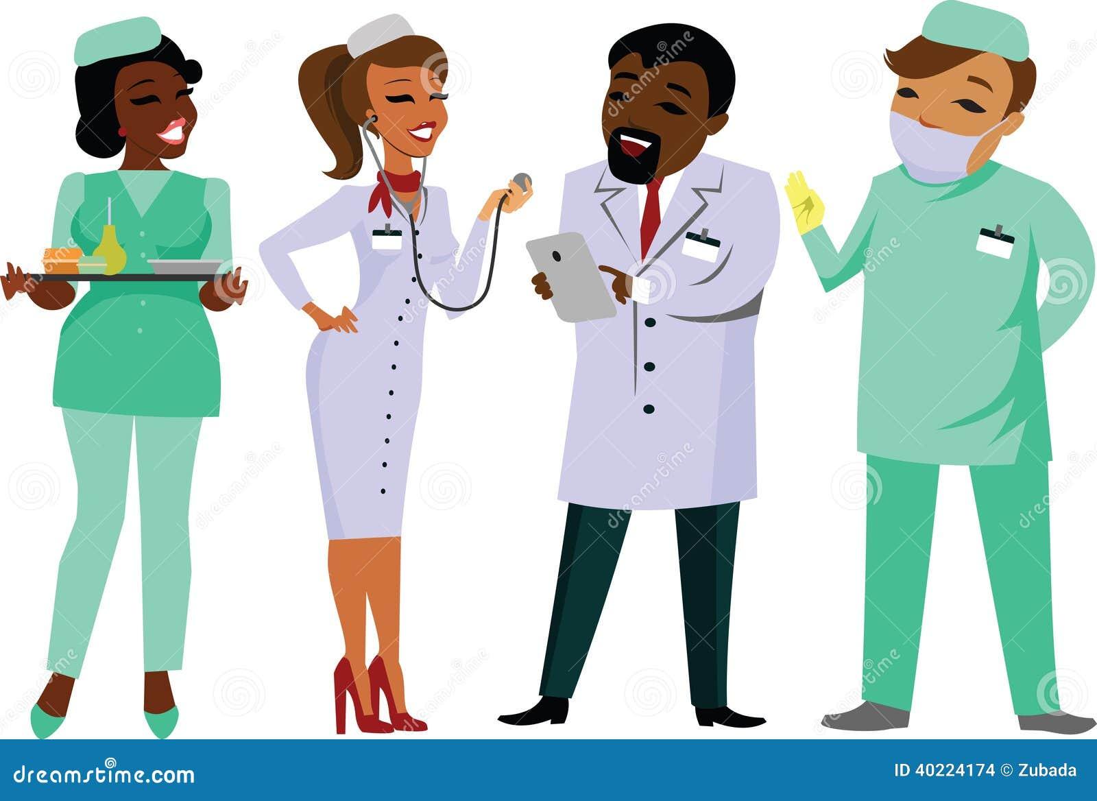 Group Of Doctors Clipart Doctors stock vector. ...
