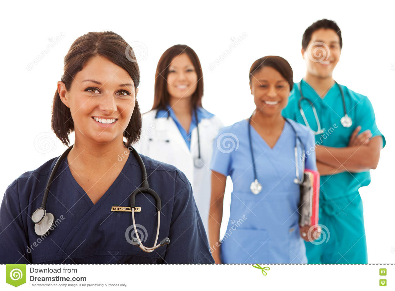 Doctors Male And Female Doctors And Nurses Stock Image -7425
