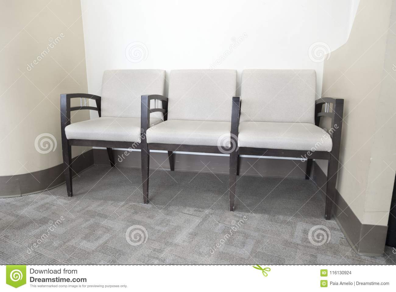 Groovy Waiting Room Chairs Physicians Office Hospital Room Stock Interior Design Ideas Tzicisoteloinfo
