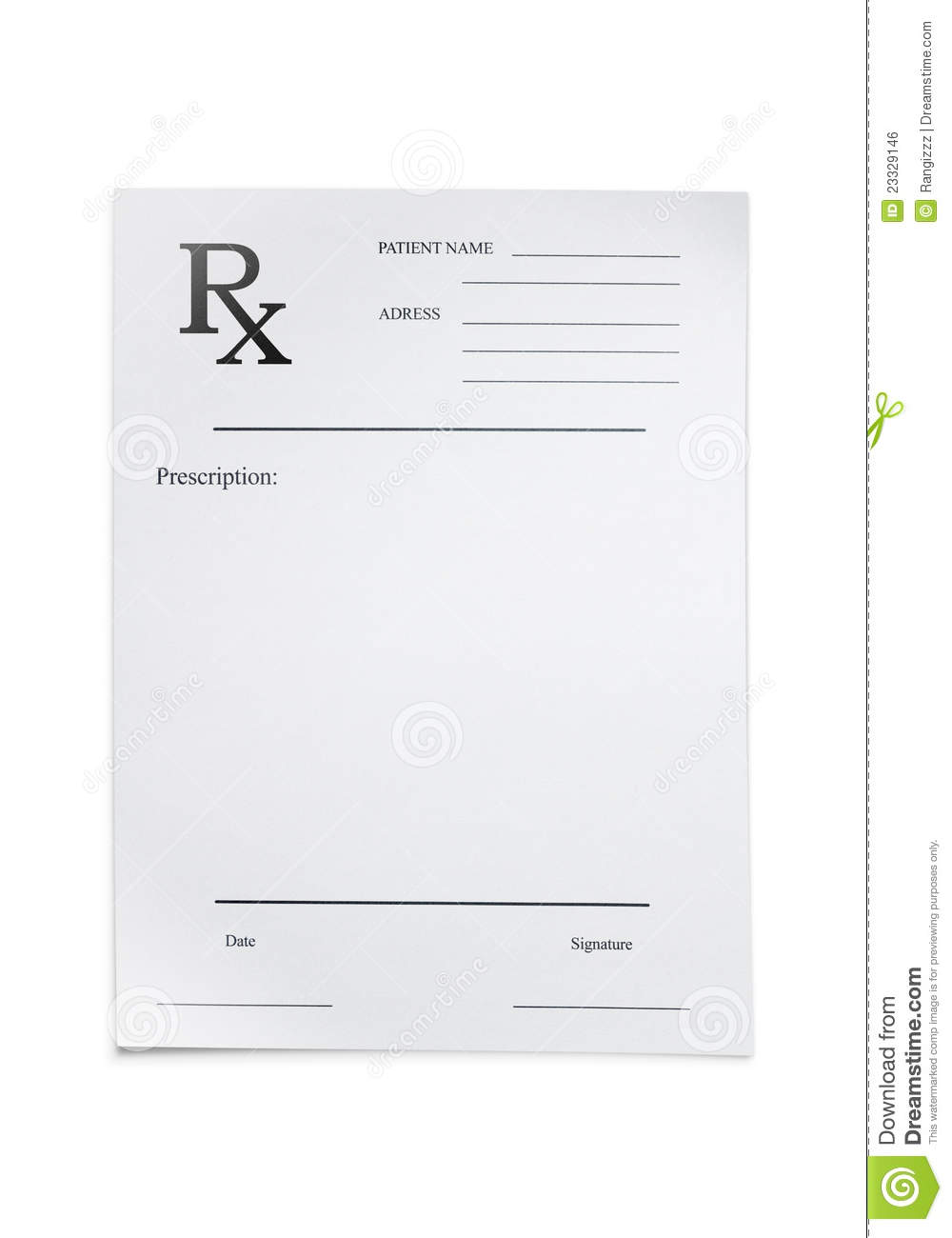 Doctors Prescription Stock Photo Image Of Cost Blank