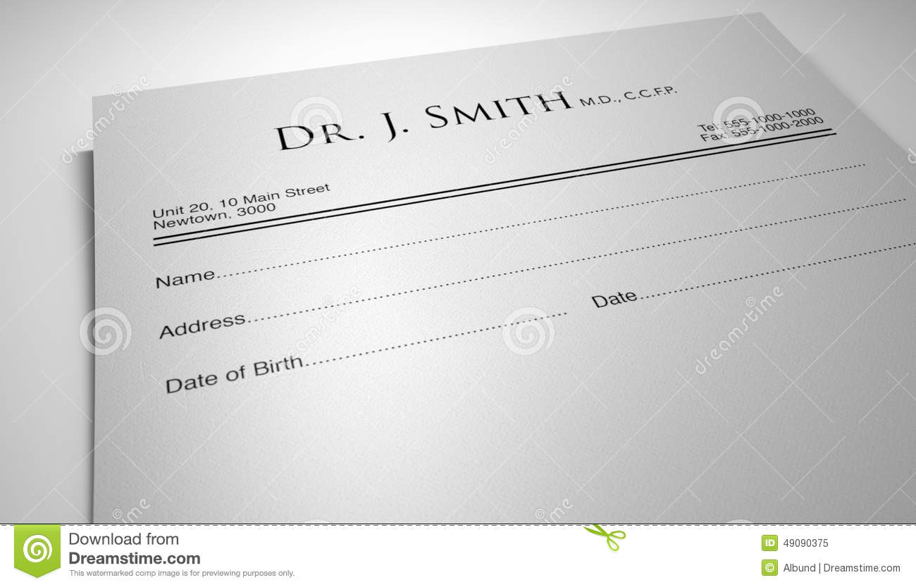 Doctors Prescription Stock Photo - Image: 49090375