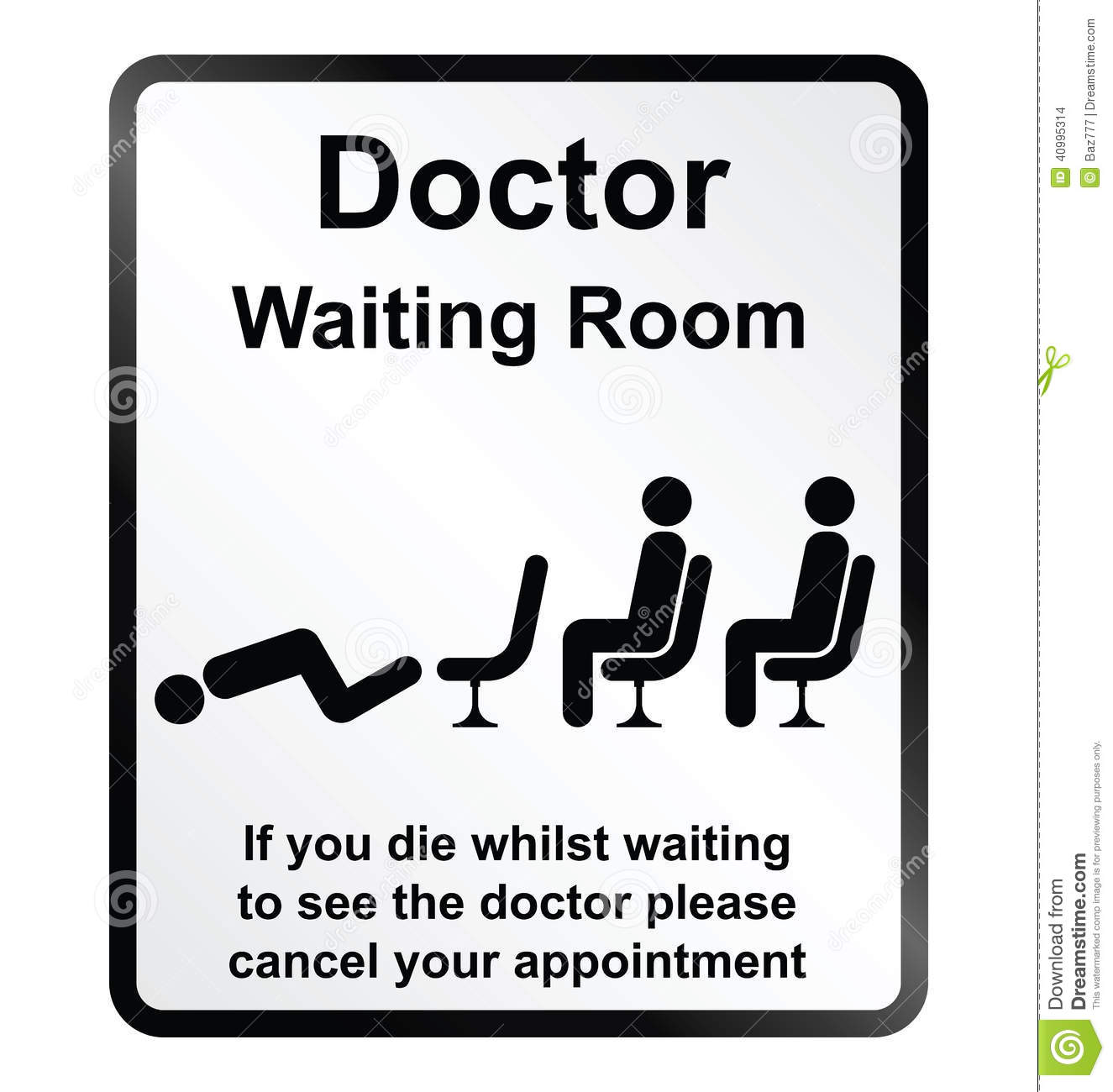 Doctors Waiting Room Information Sign Stock Vector - Image: 40995314