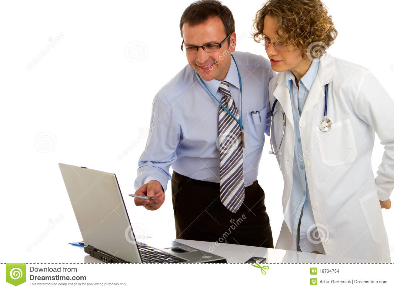 Doctors analyze the business plan - doctors at work.
