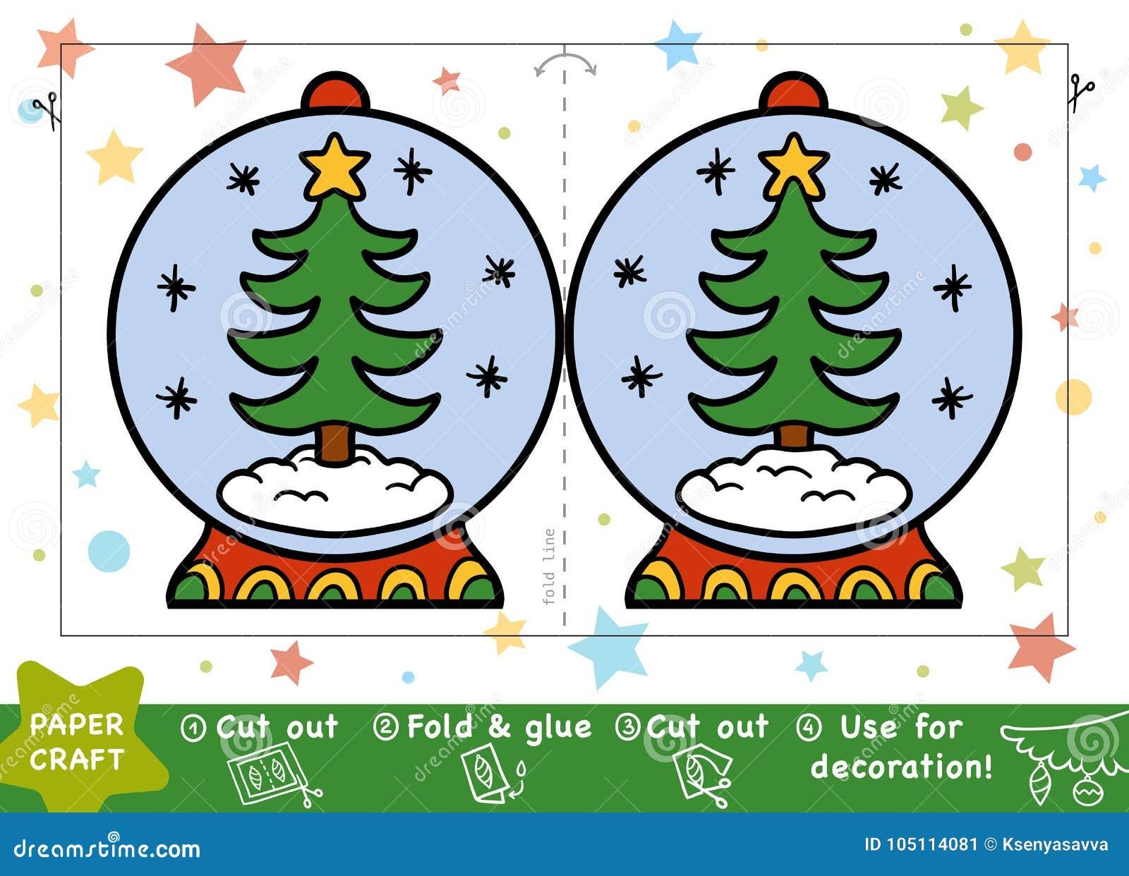 Document Ambachten voor kinderen, Sneeuwbal en Kerstboom