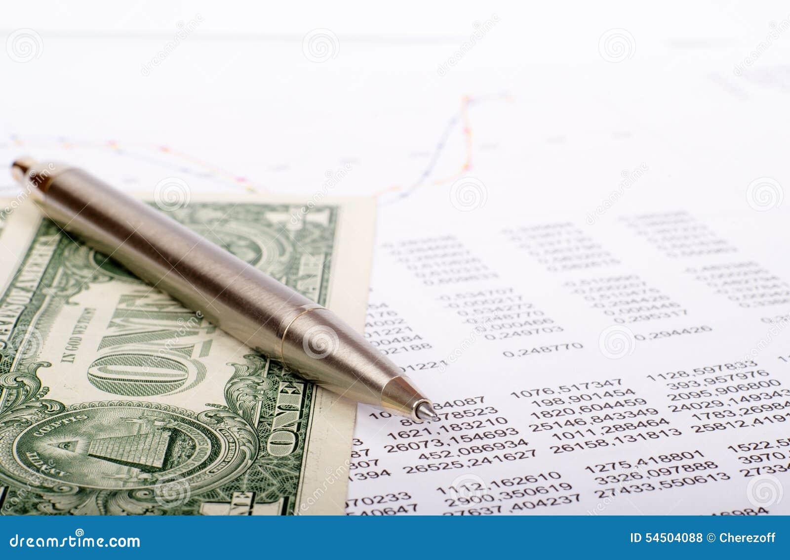 Document avec des dollars