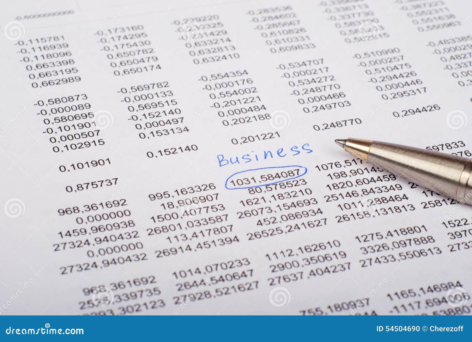 Document avec le stylo