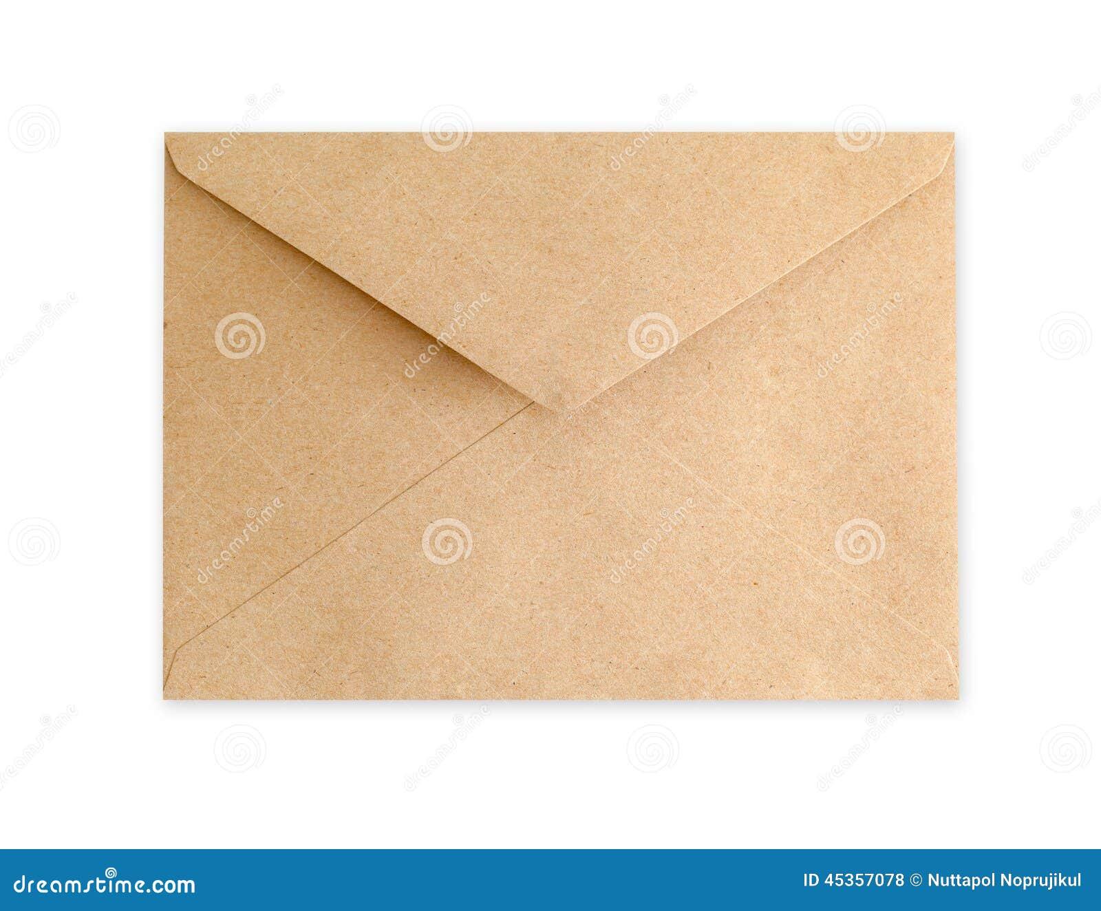 Document d enveloppe de Brown sur le fond blanc