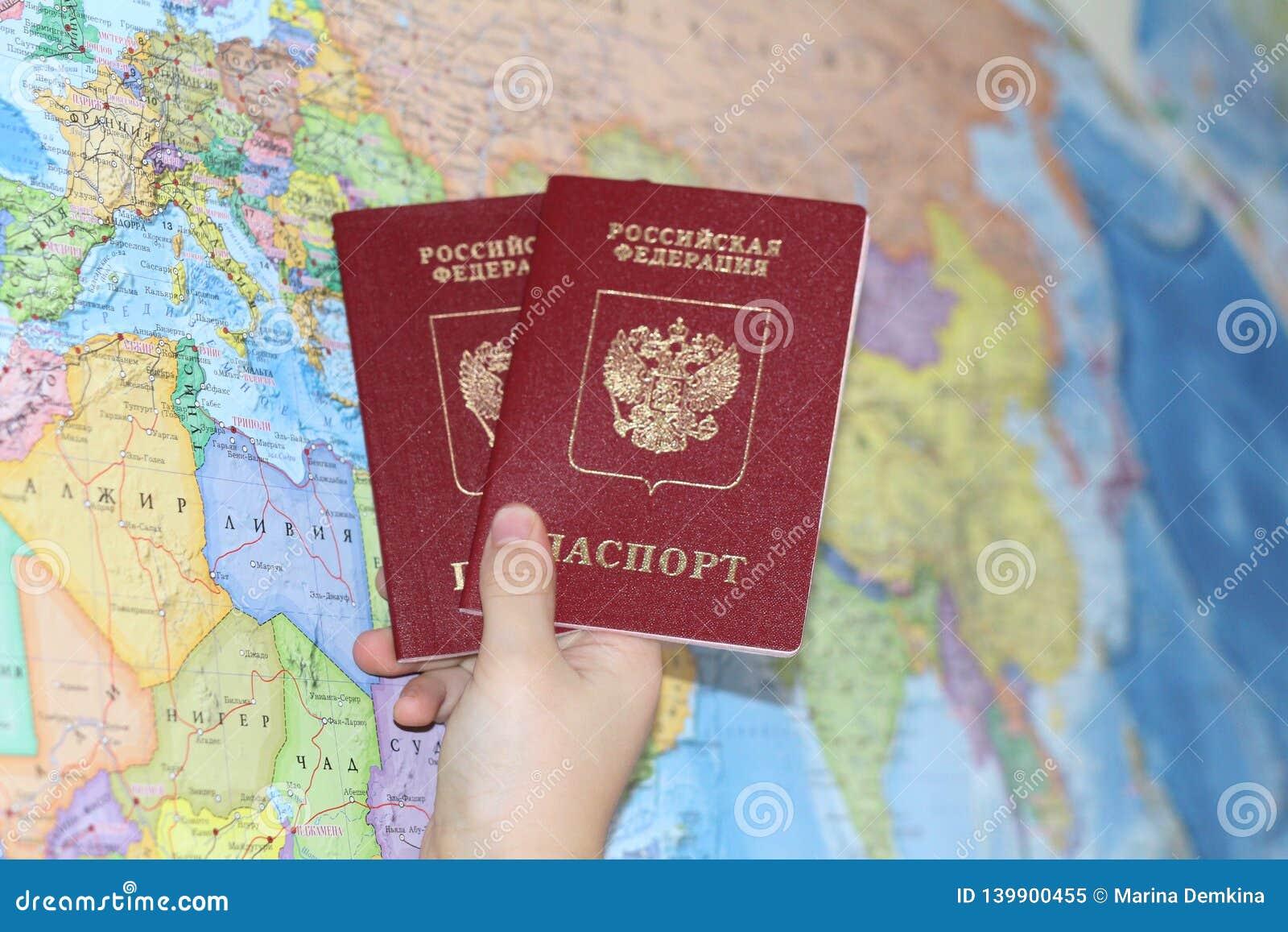Document d identité sur le fond d une carte géographique