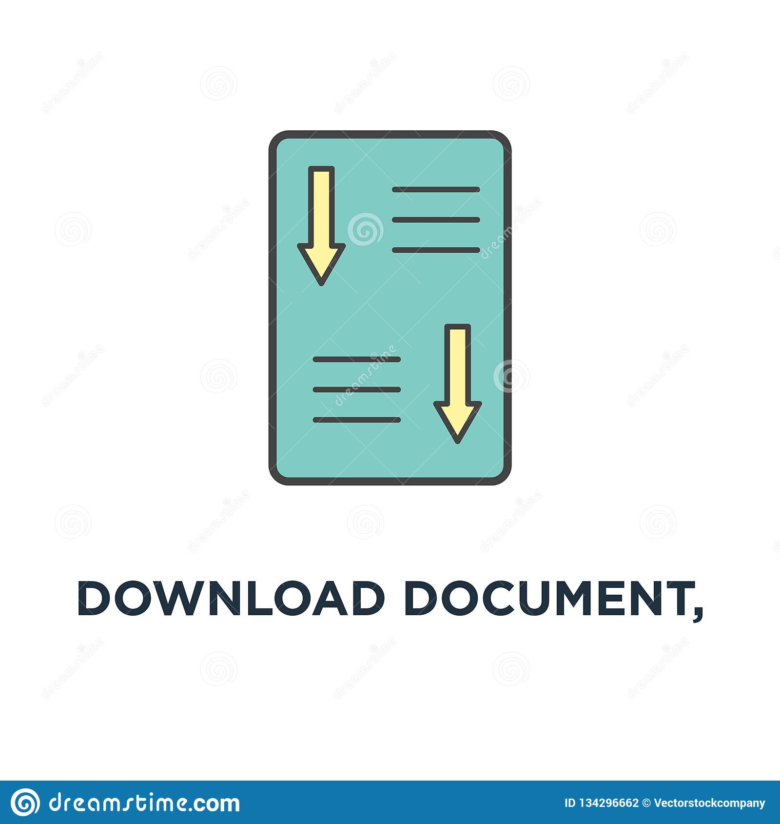 Document De Telechargement Icone De Livre Blanc Conception