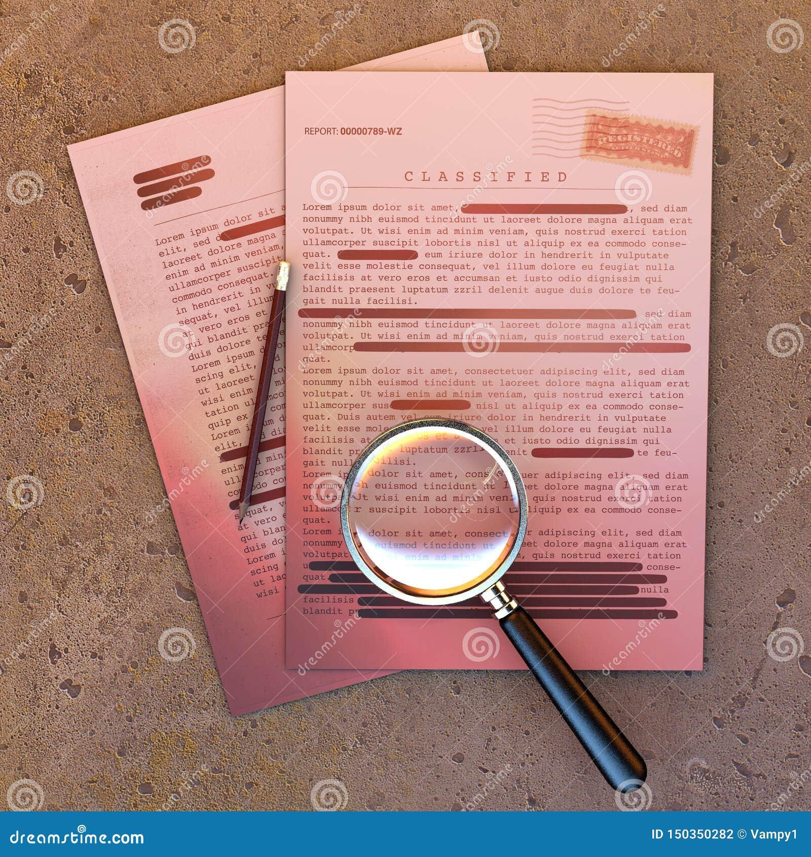 Document extr?mement secret, l information d?class?e et confidentielle, texte secret L information non publique Feuille de papier
