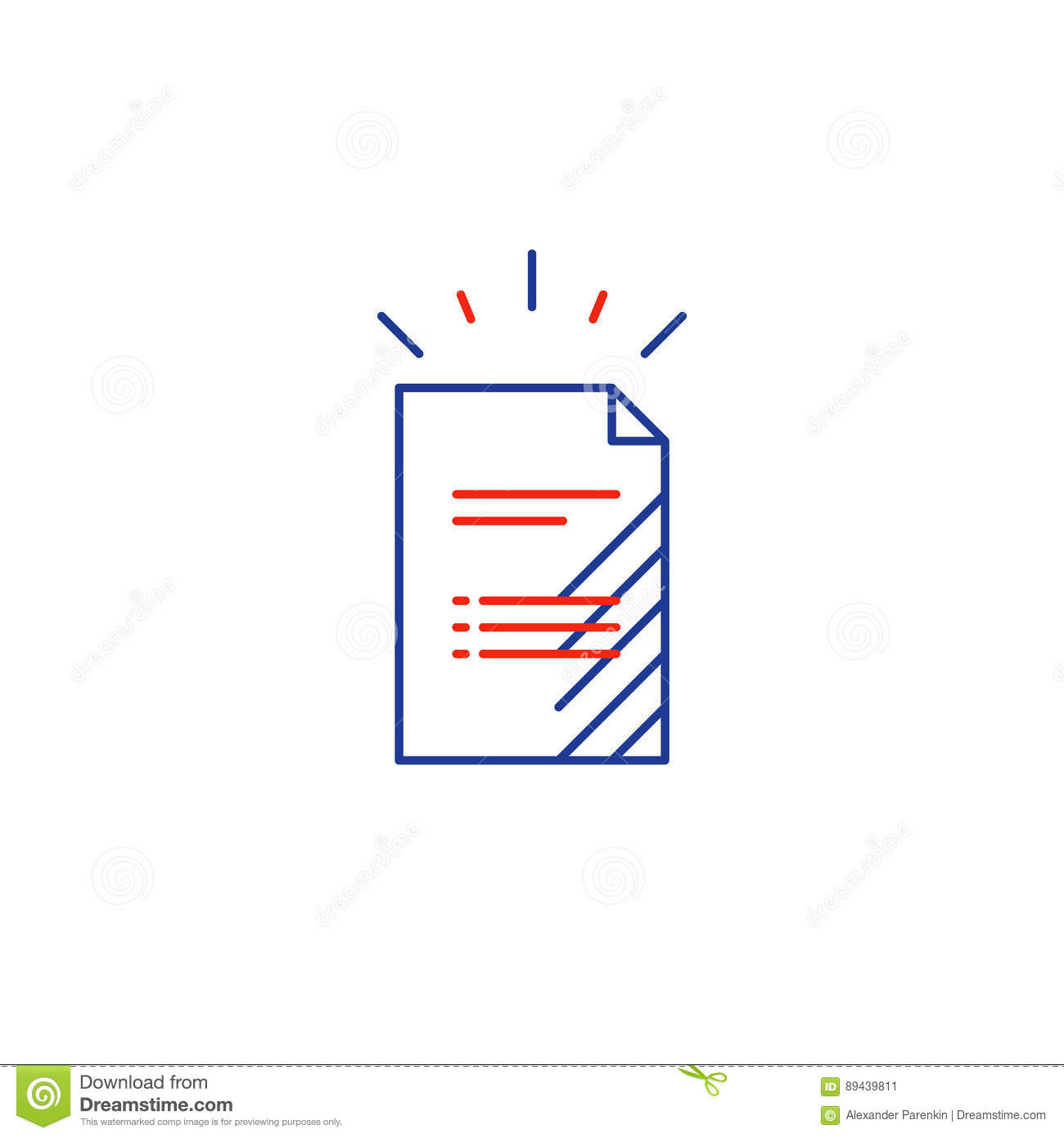 Document File List Application Form Icon Stock Vector