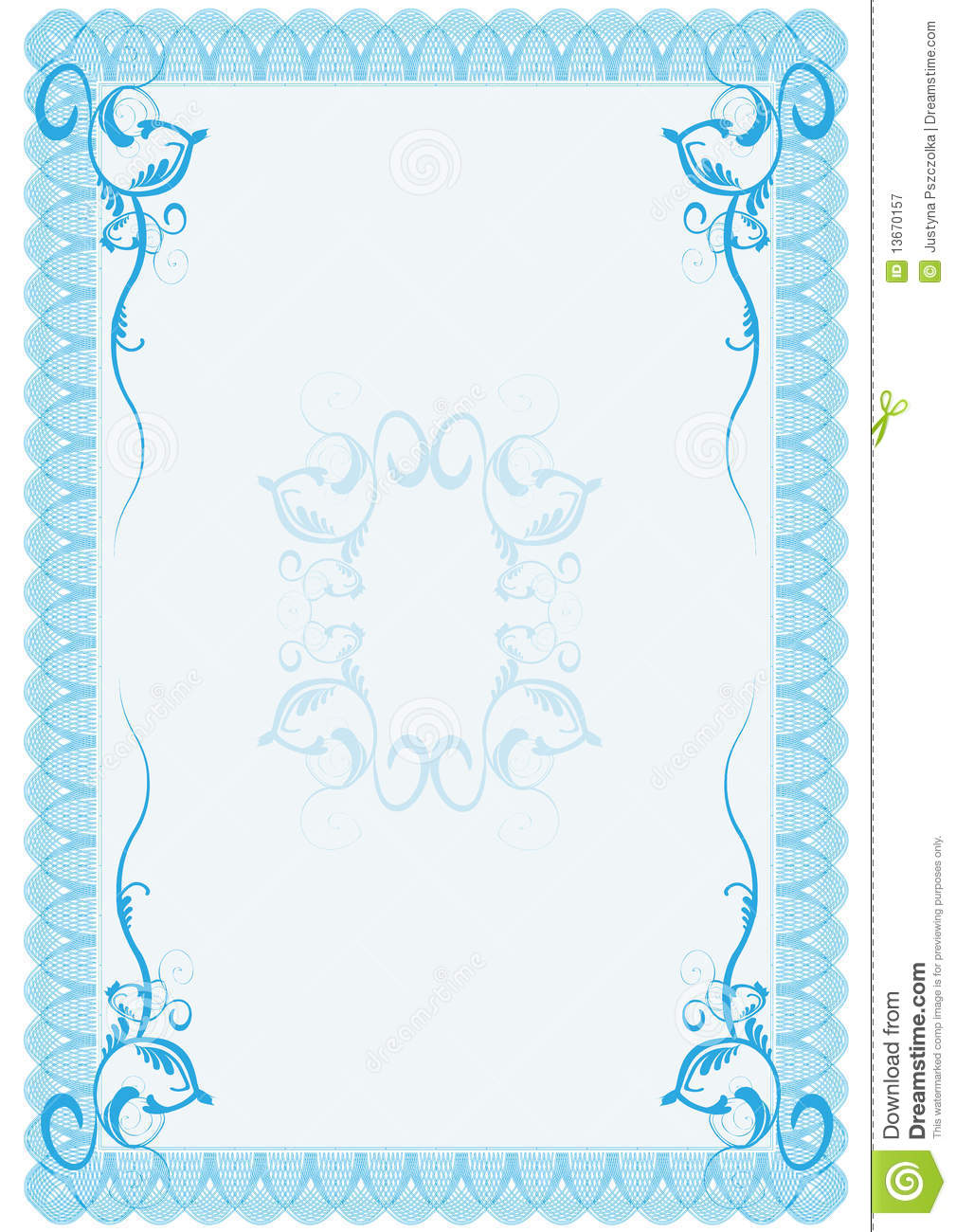 Document Frame Royalty Free Stock Photography Image
