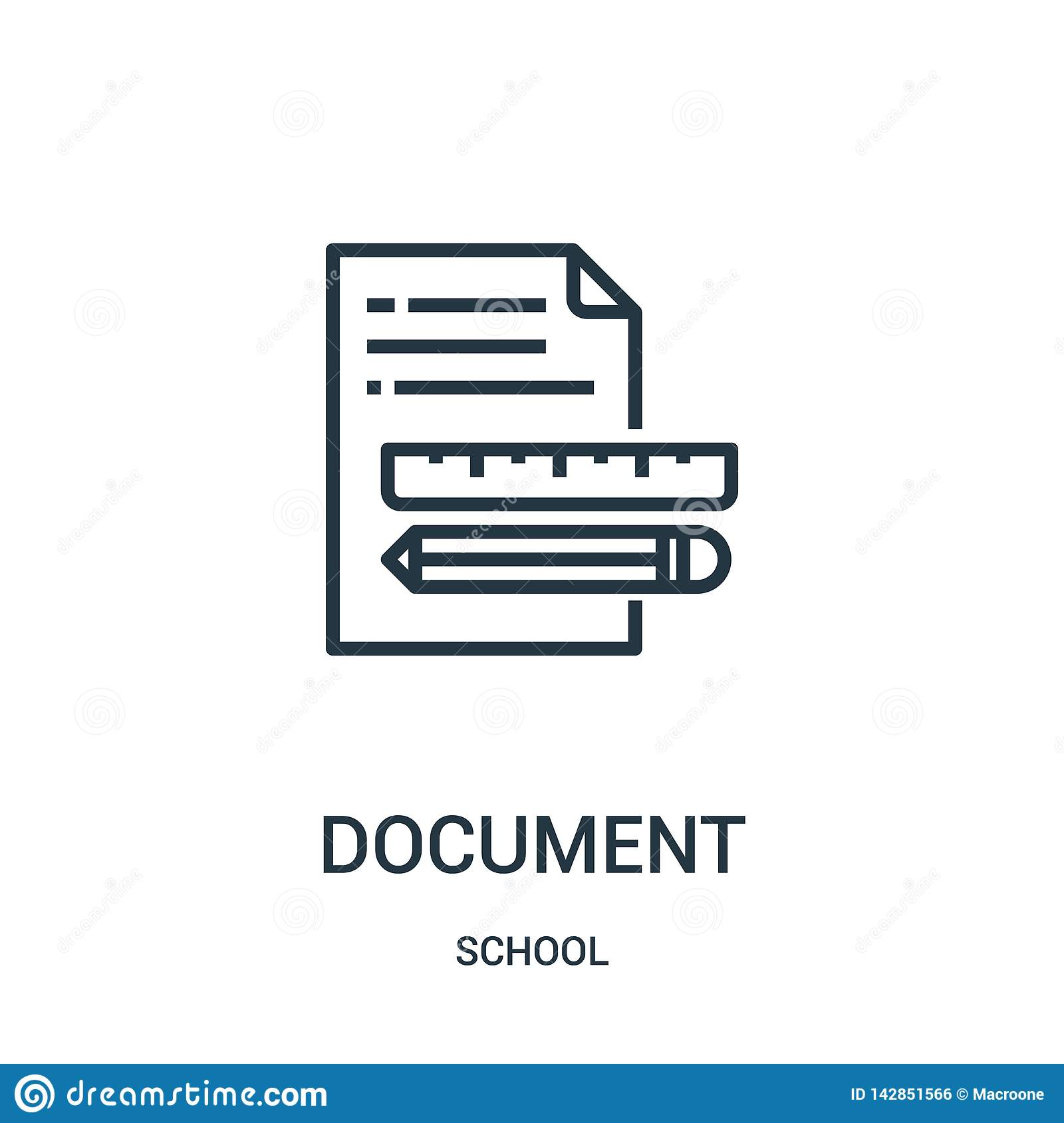 Document Icon Vector From School Collection  Thin Line