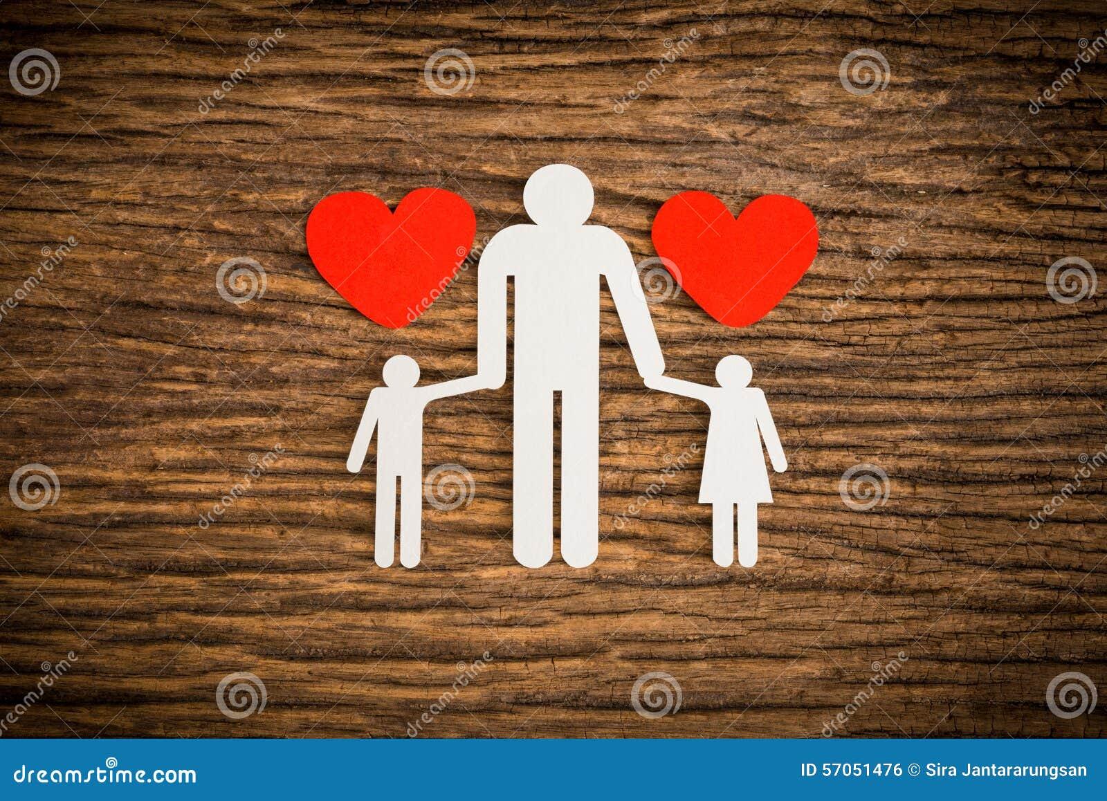 Document kettingsfamilie en het rode hart symboliseren