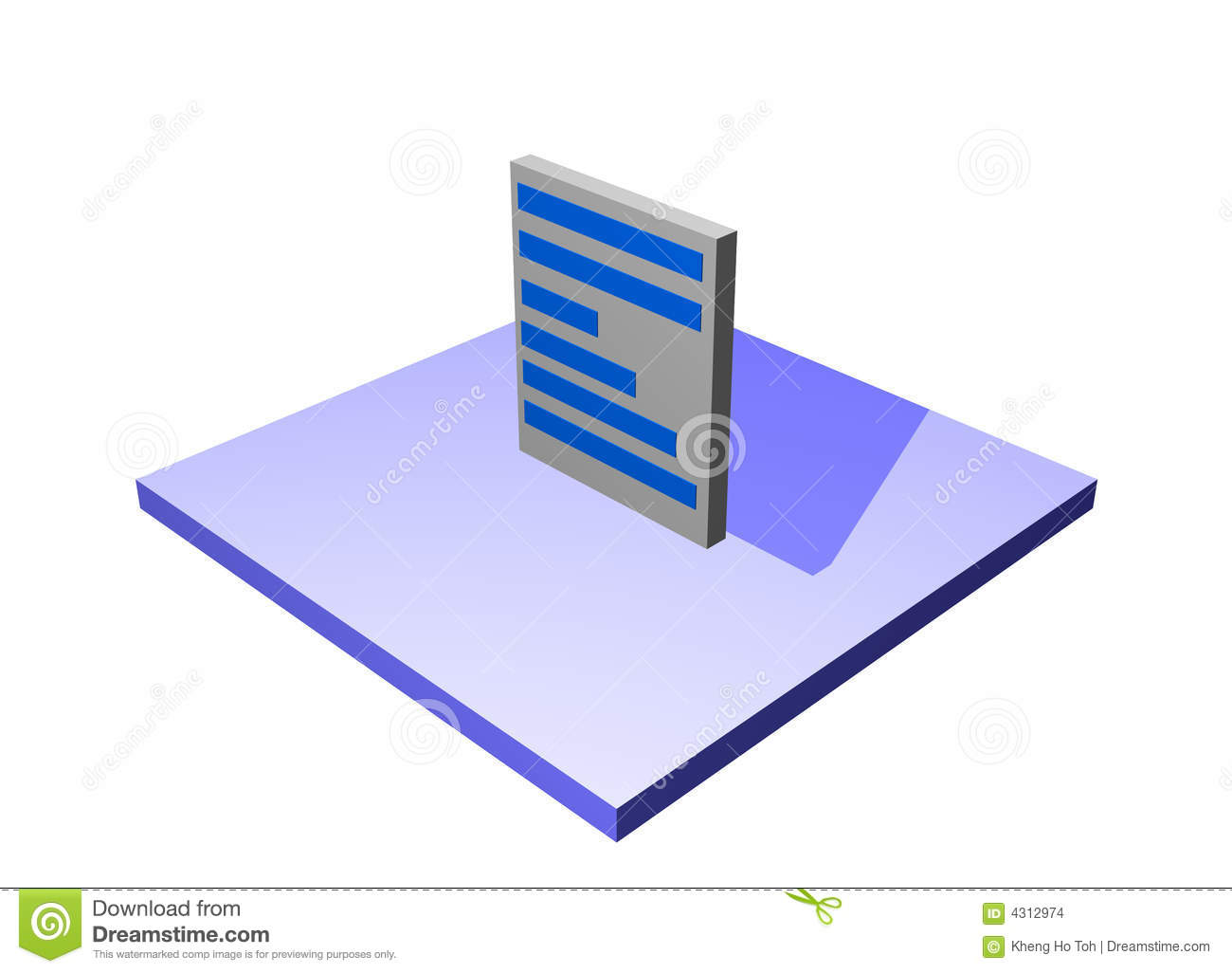 Document A Logistics Supply Chain Diagram Object Stock Illustration