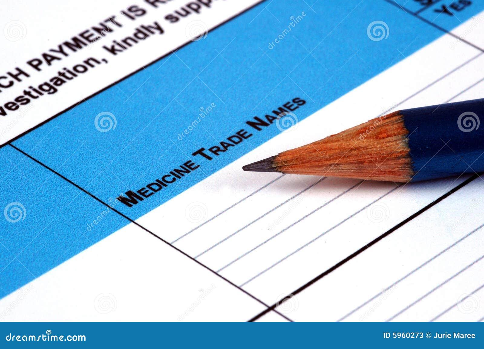 Document médical.