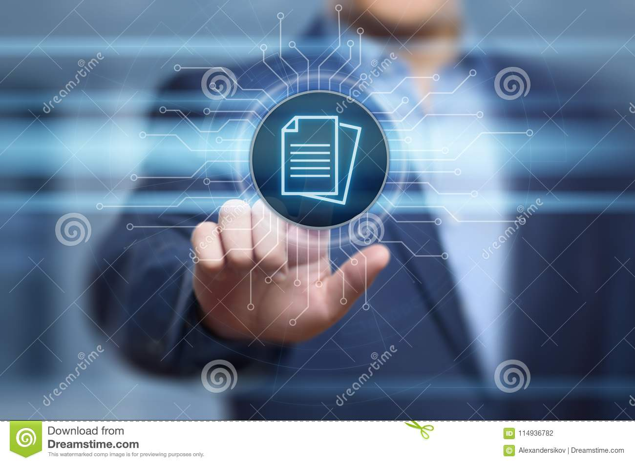 Document Management Data System Business Internet Technology Concept