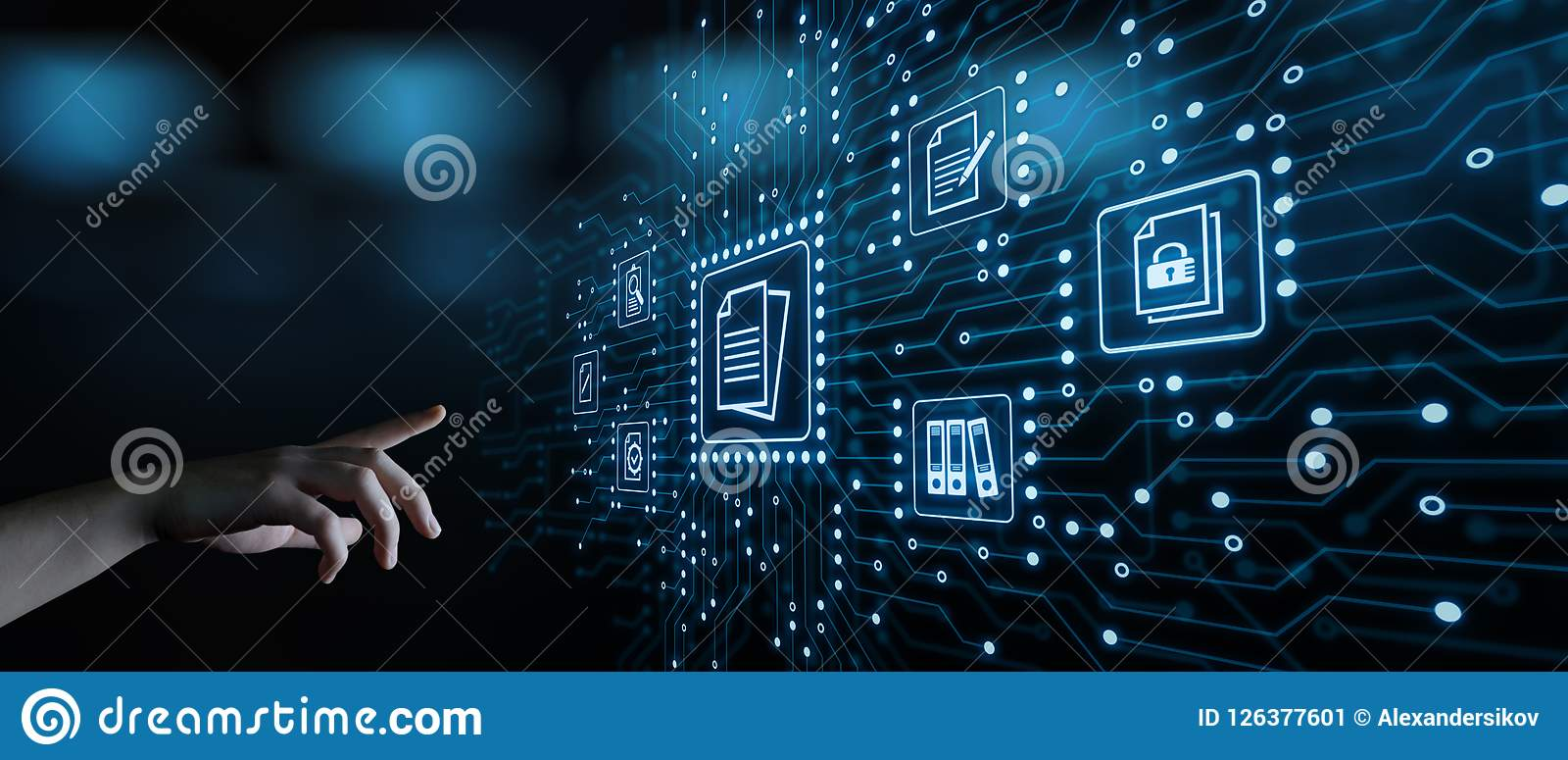 Technology Management Image: Document Management Data System Business Internet