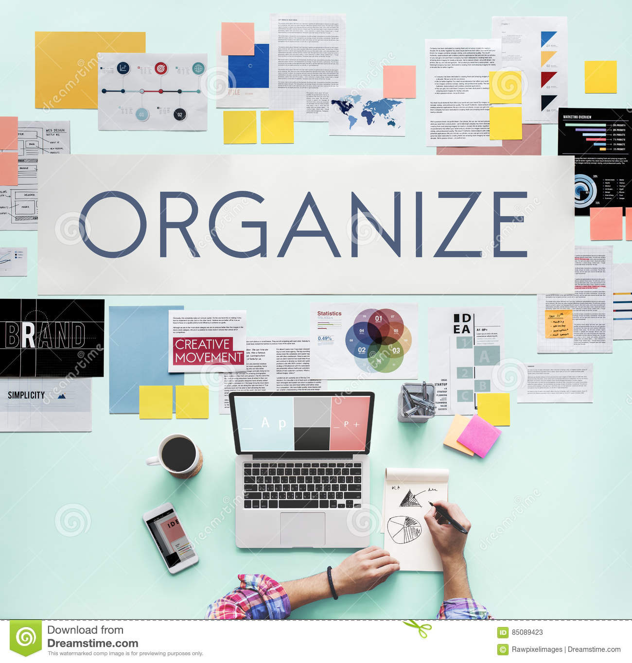 Document Marketing Strategy Business Concept Stock Image
