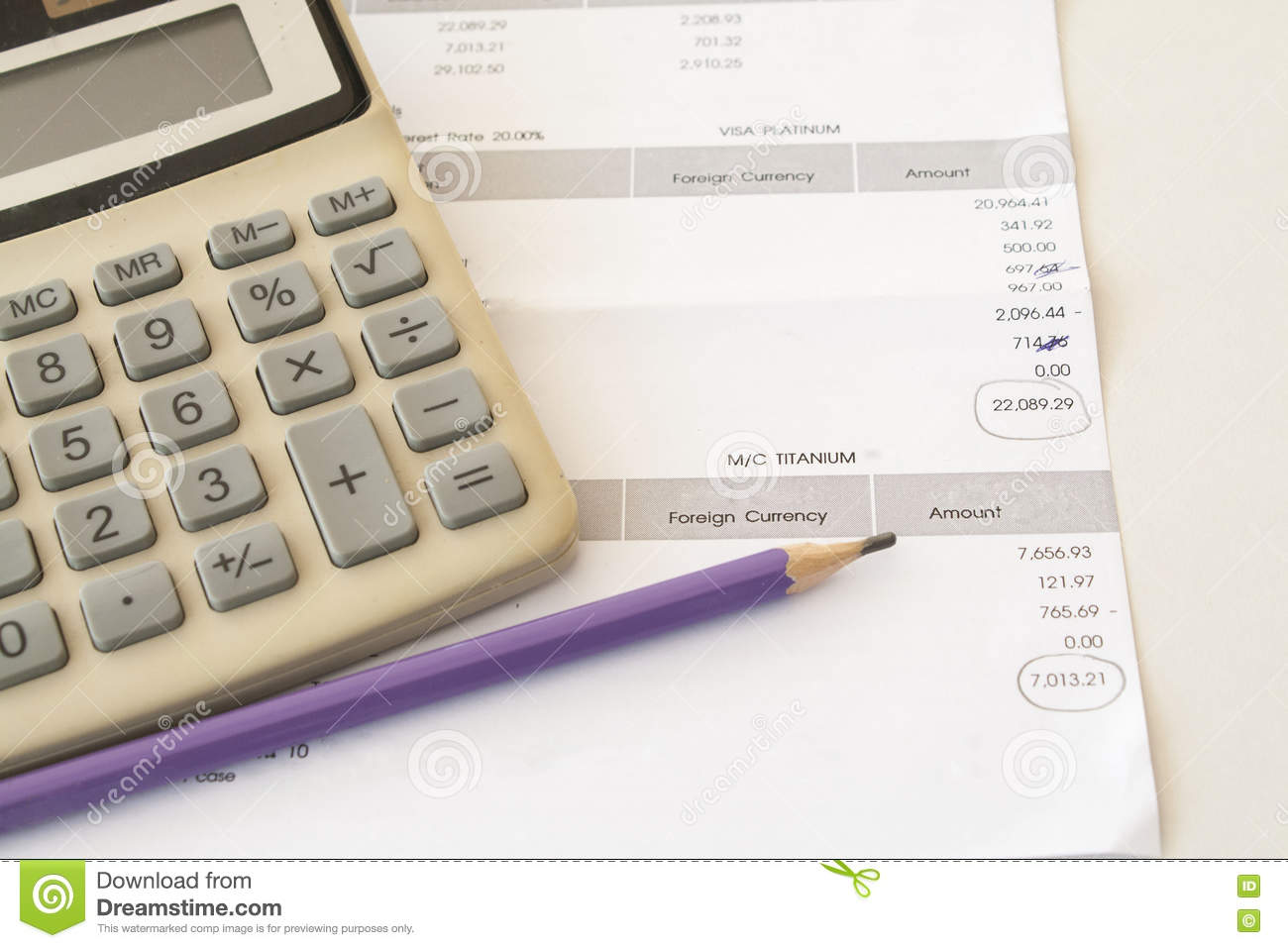 document monthly stock image image of debt finance 71887007
