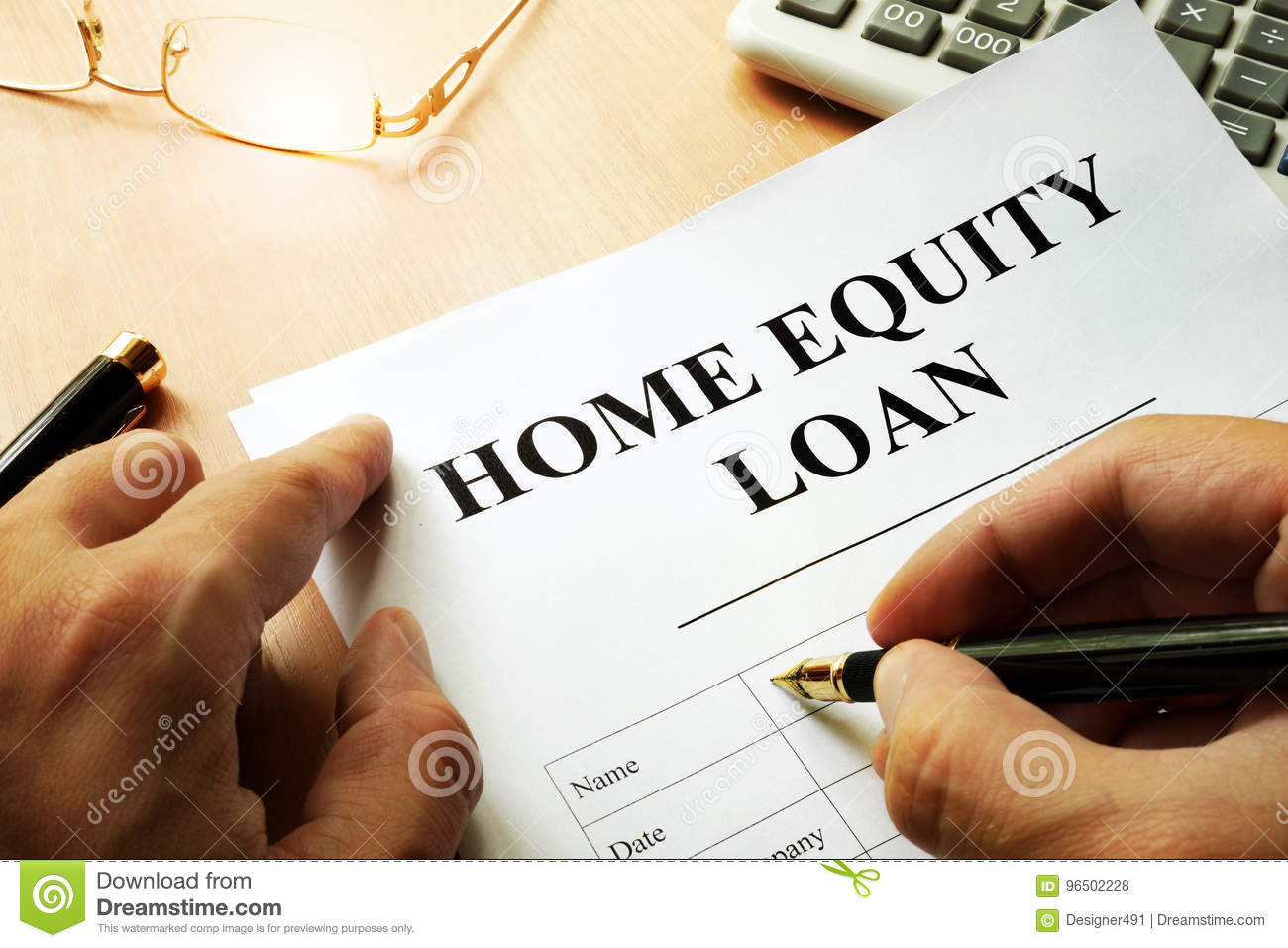 Document with name home equity loan.