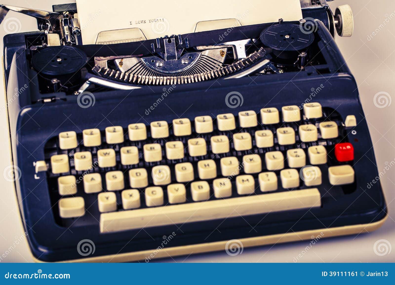 Document in schrijfmachine