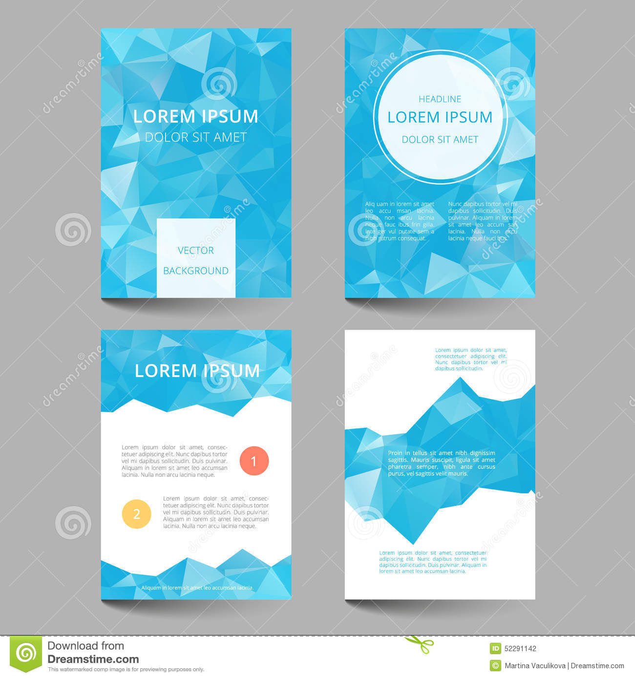 Document Template Low Poly Design Stock Vector - Illustration of ...