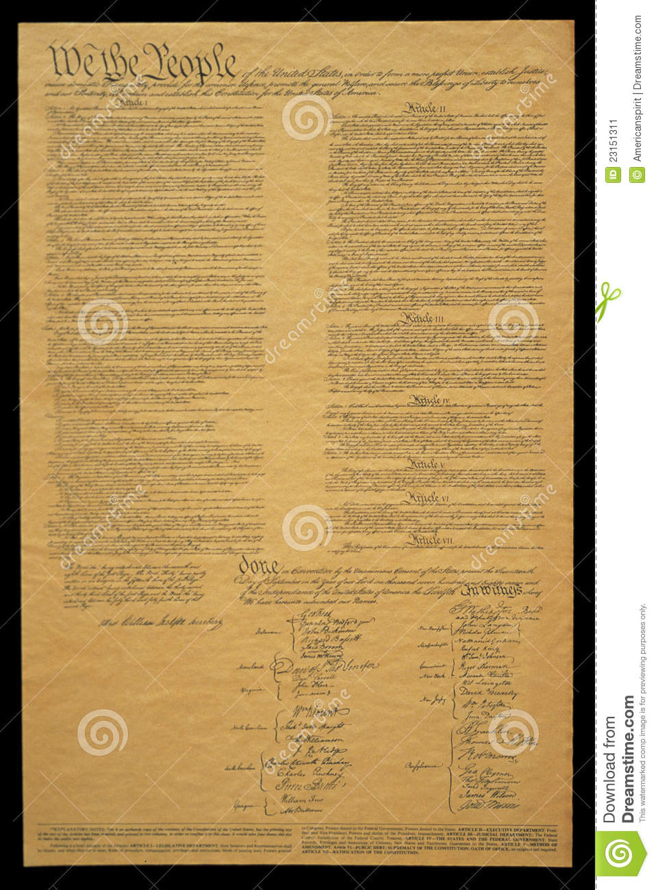 document of u s constitution stock image image  document of u s constitution