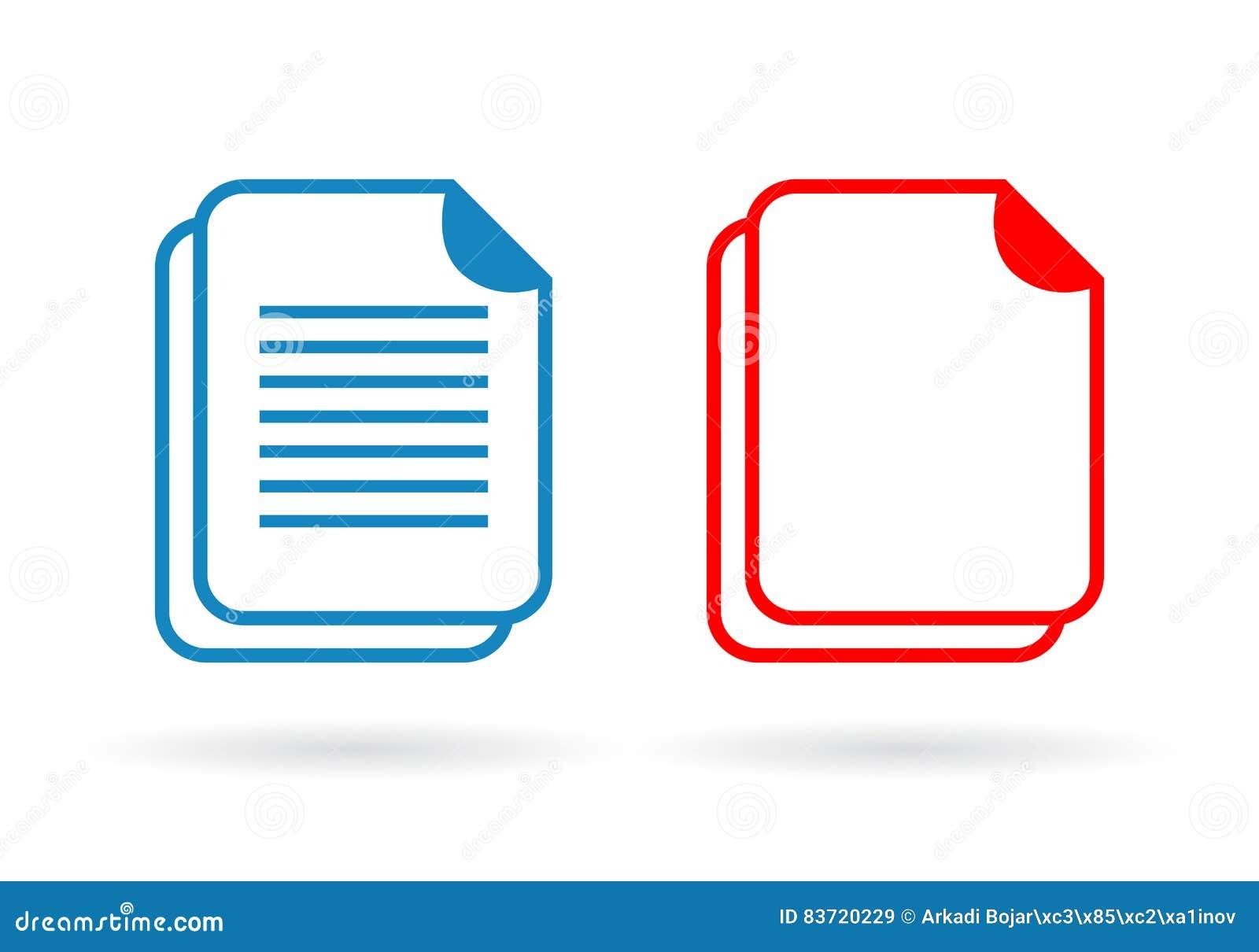 Document Vector Icon Stock Vector