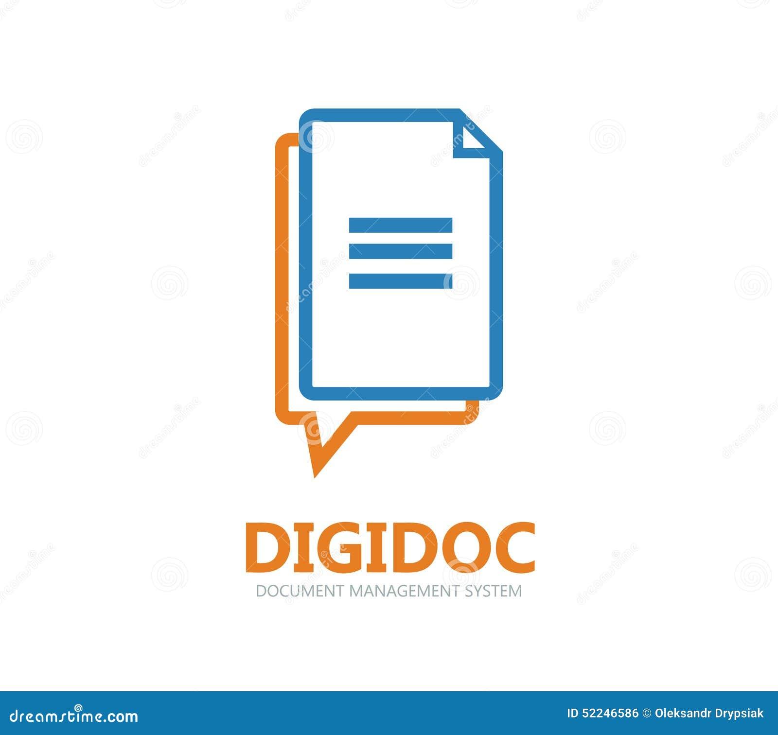 Document Vector Logo Or Symbol Icon Stock Vector Image