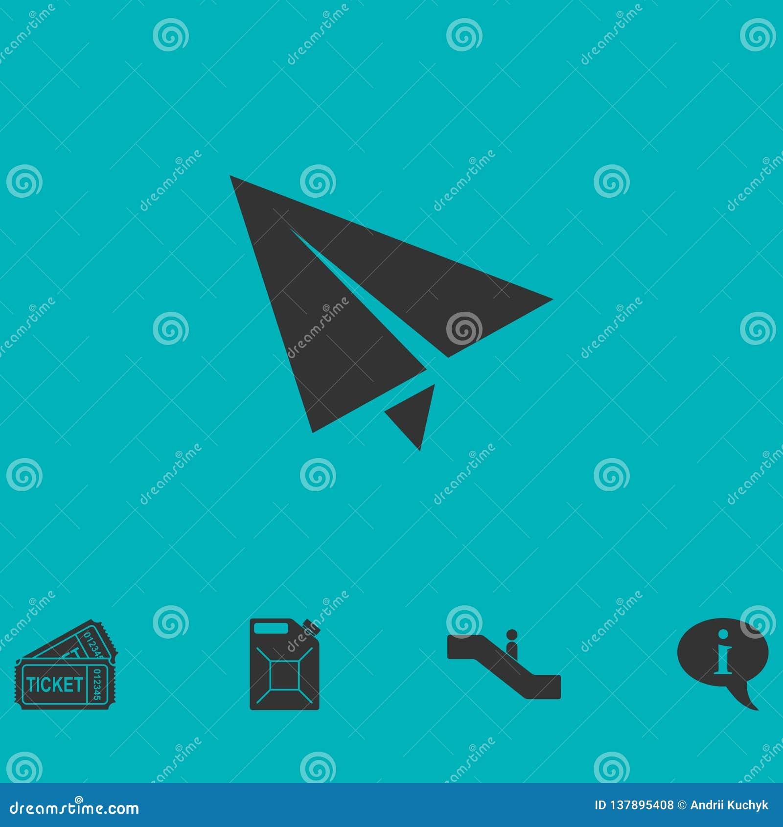 Document vlak vliegtuigpictogram