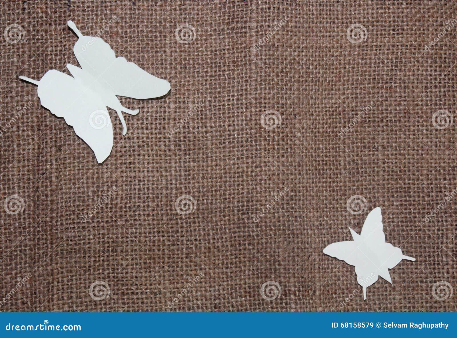 Document vlinders op jutedoek