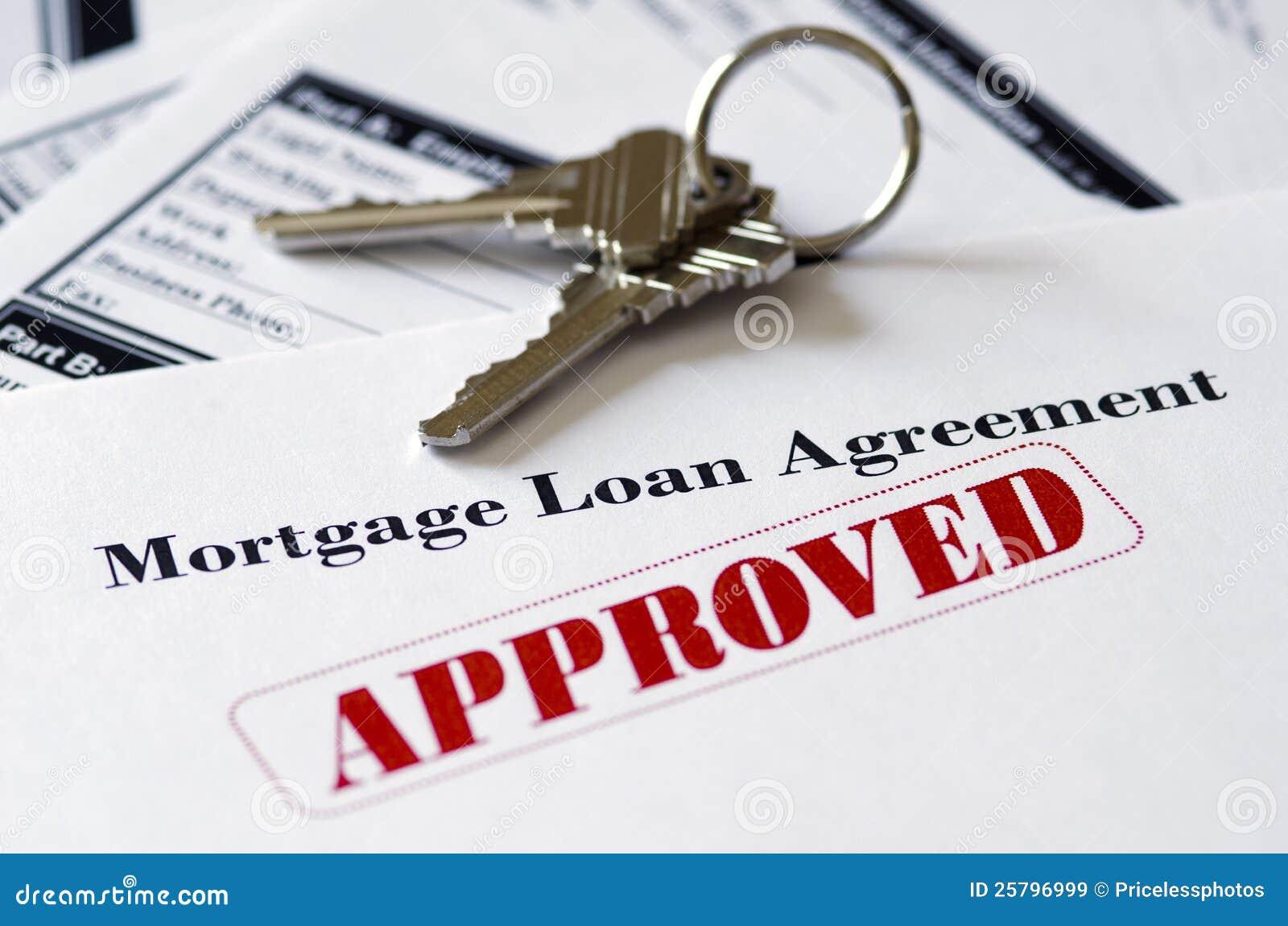 Documento approvato di prestito di ipoteca di bene immobile