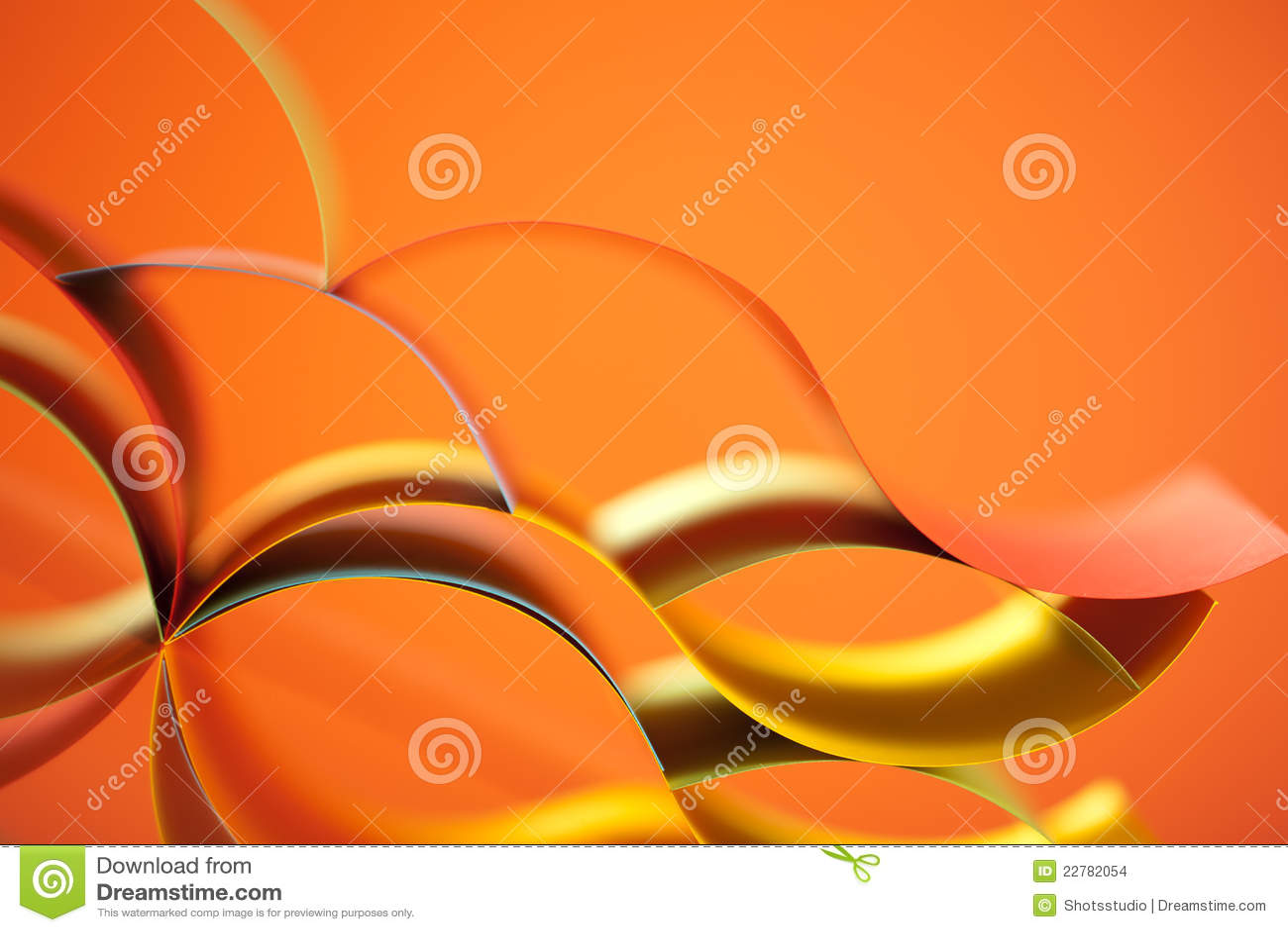 Documento coloreado del extracto sobre fondo anaranjado
