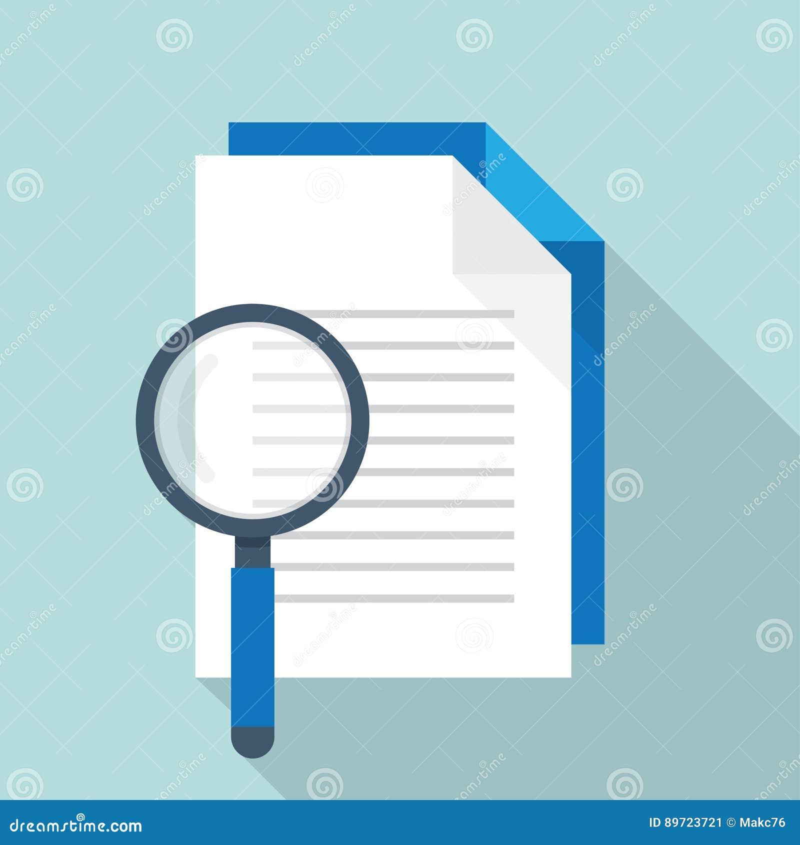 Documento con l icona di ricerca