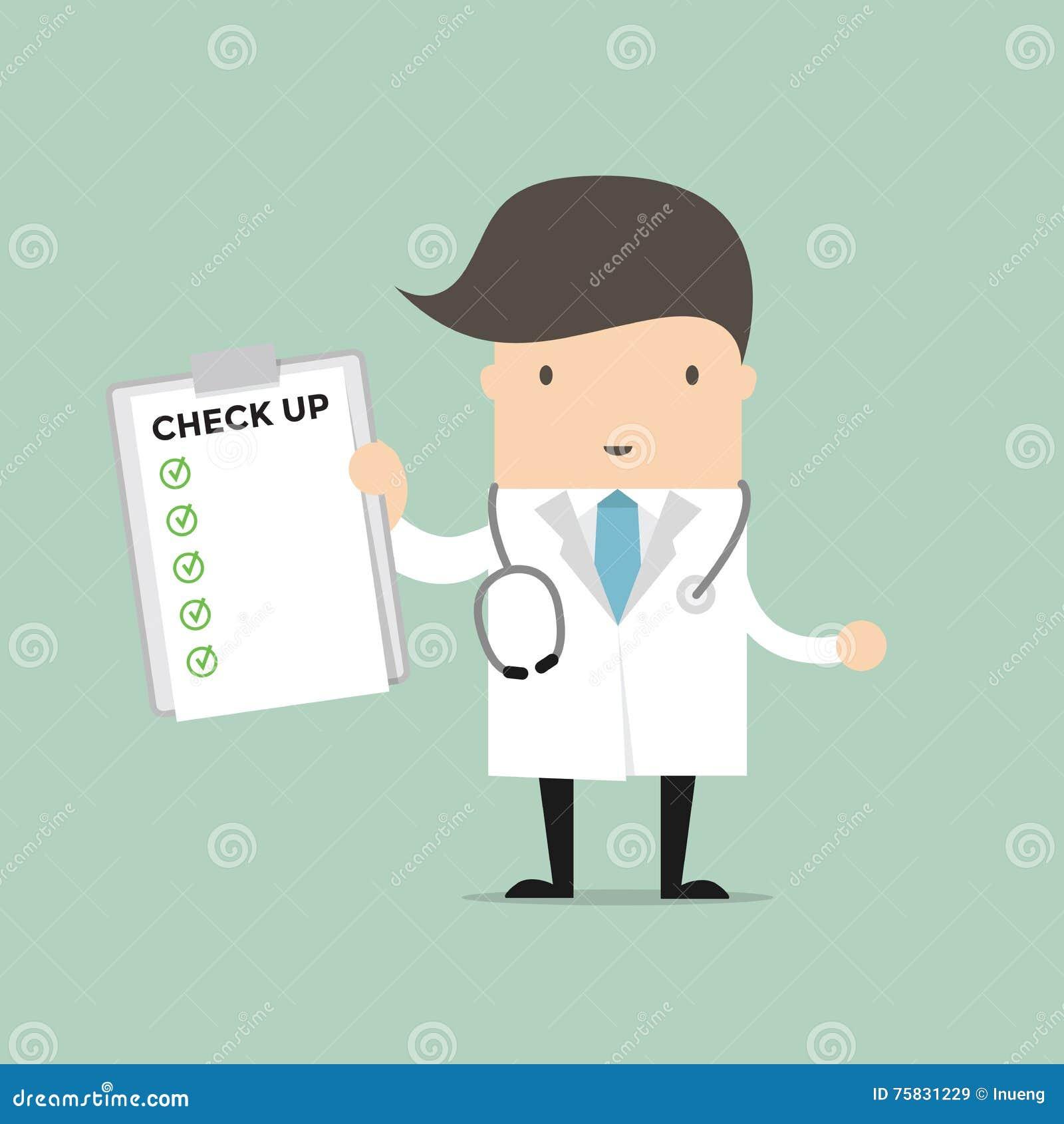 Documento del informe de médico Holding Check Up