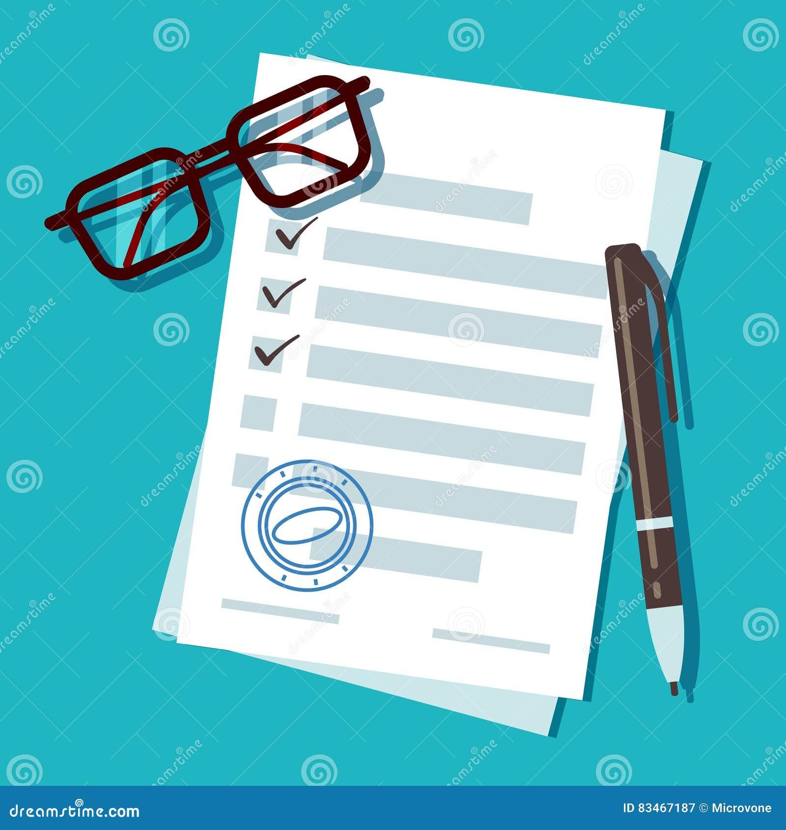 Documento del modulo di domanda di prestito, concetto di vettore di ipoteca