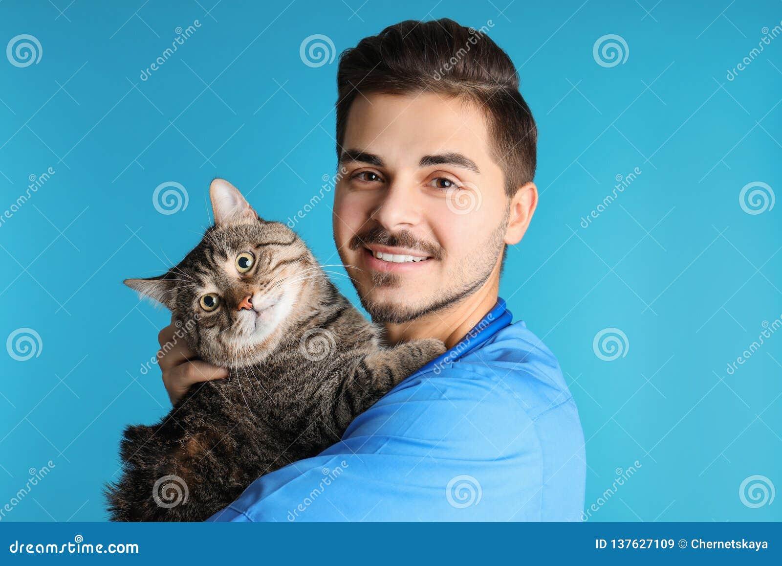 Documento del veterinario con il gatto