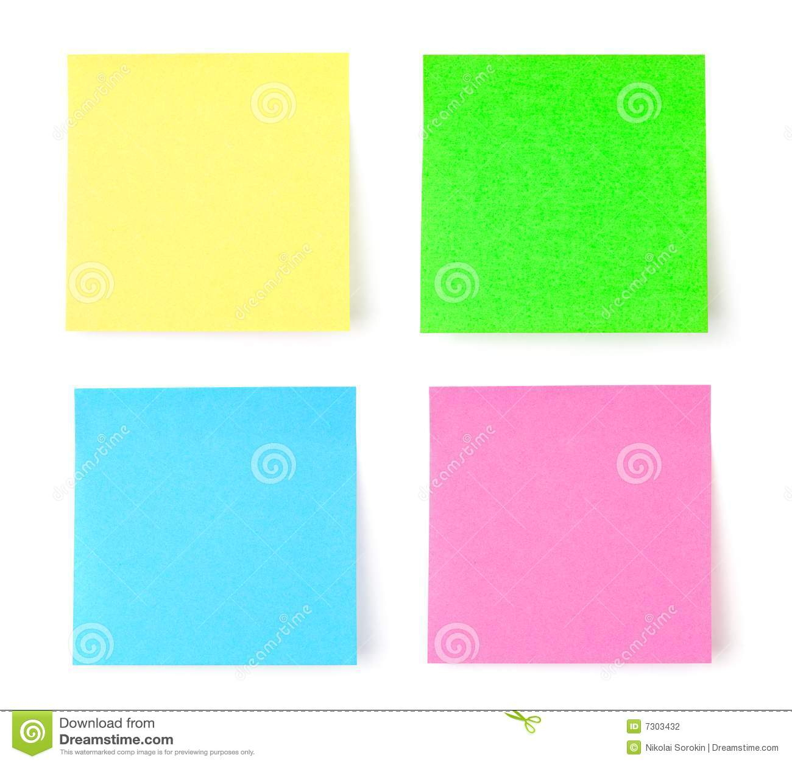 Documento di nota multicolore del post-it