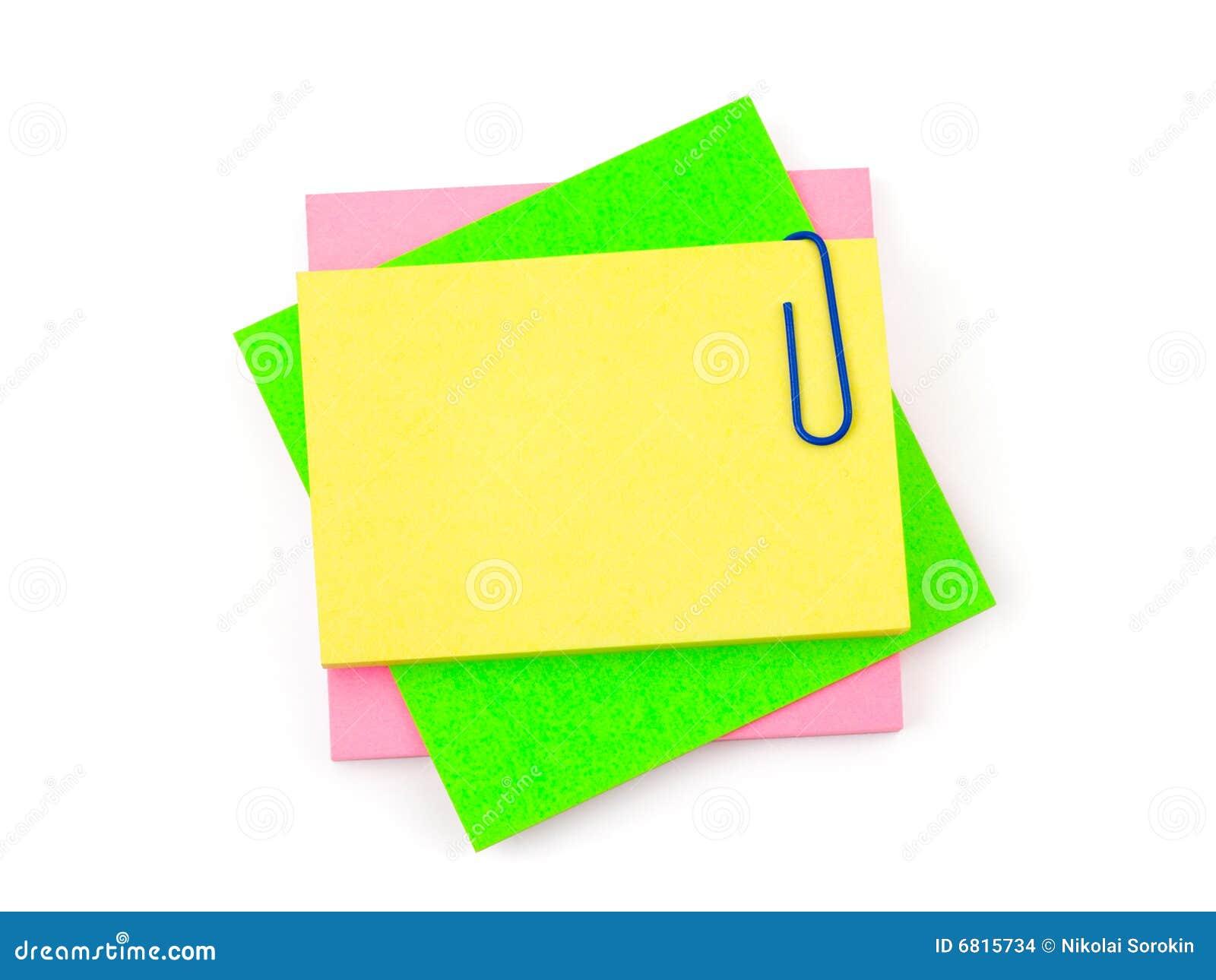 Documento e clip di nota
