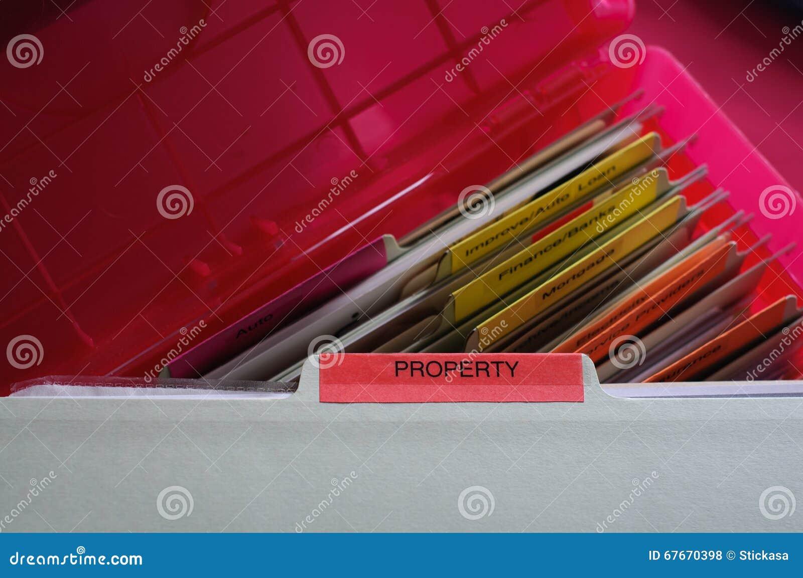 Documentos de la propiedad personal