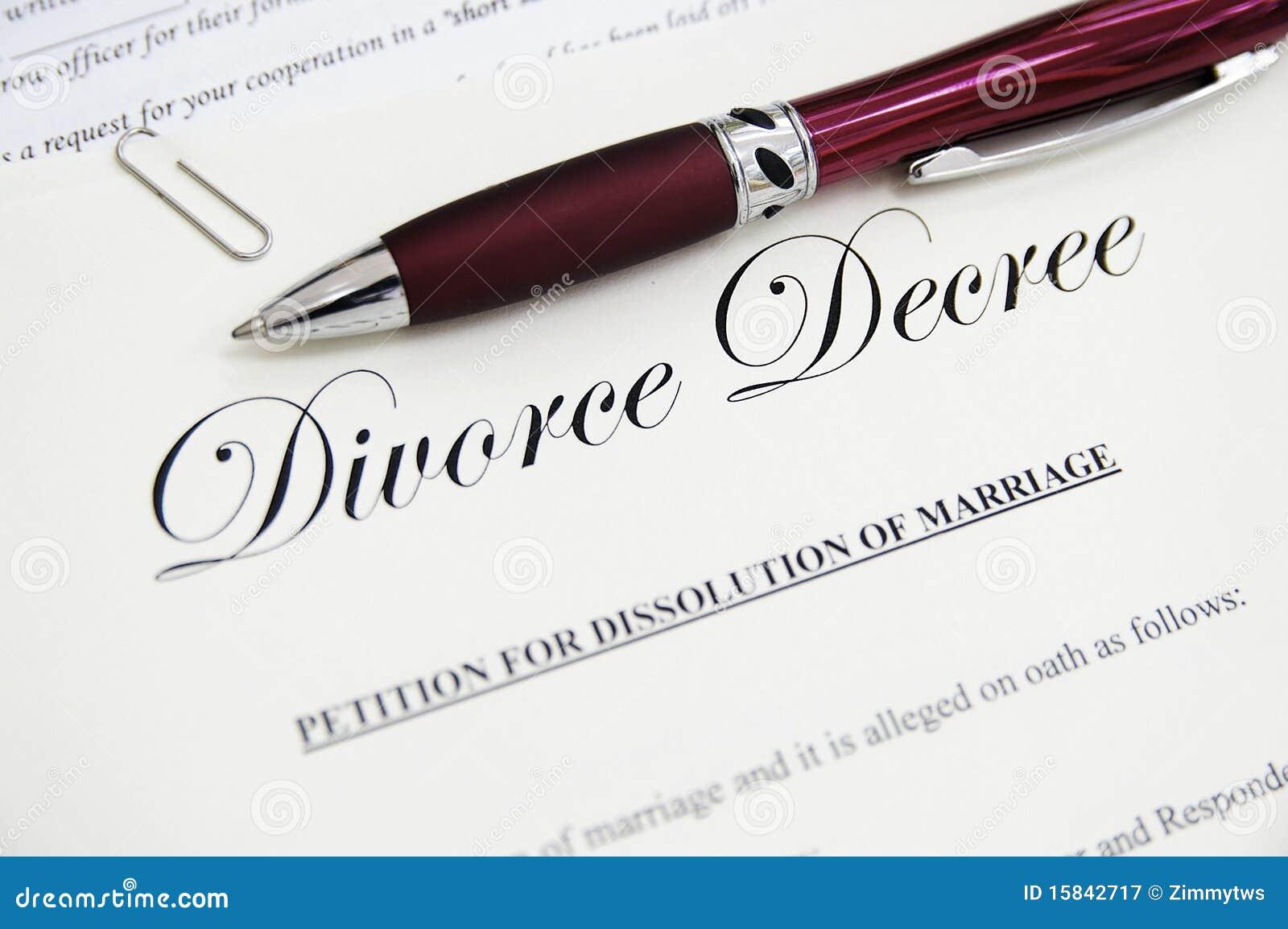 Documentos del divorcio