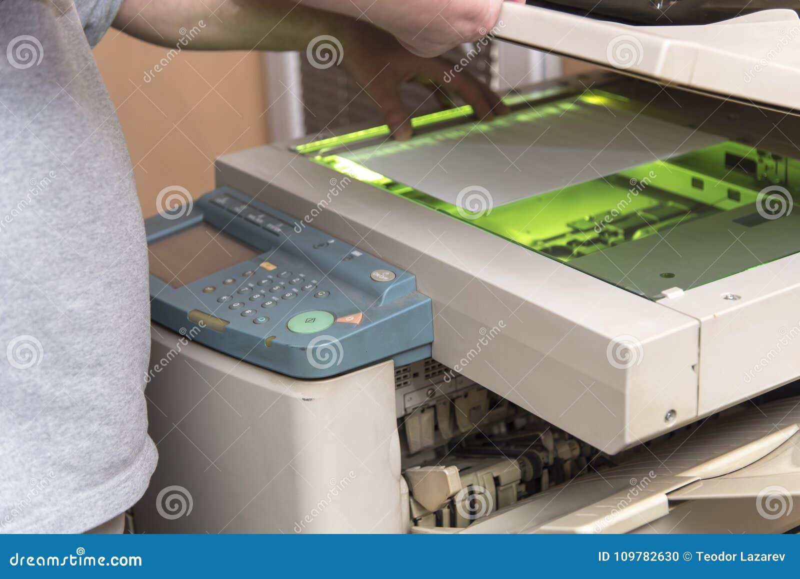 Documents de copie et de balayage sur une machine